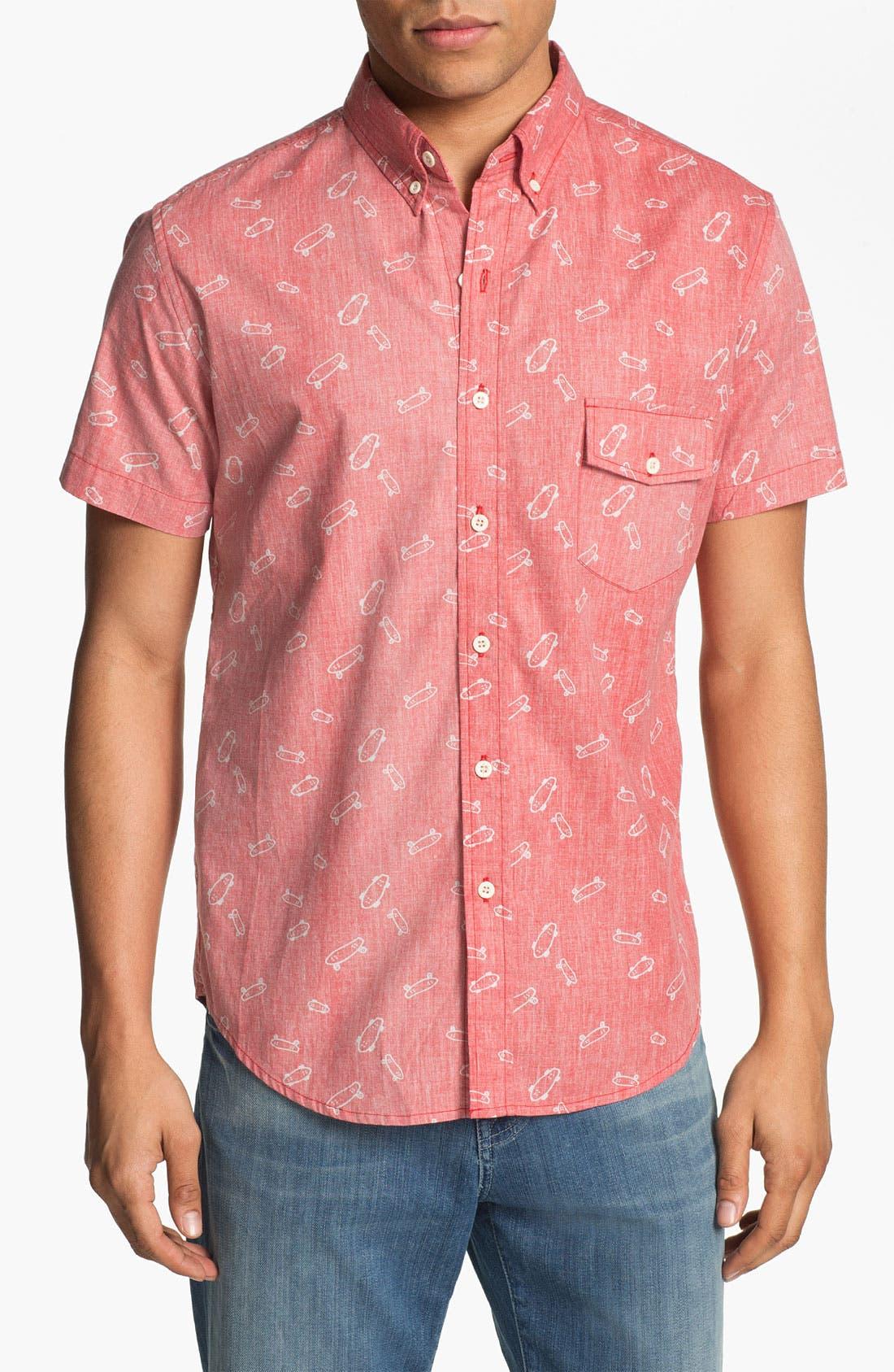 Alternate Image 1 Selected - Altru Skateboard Print Woven Shirt