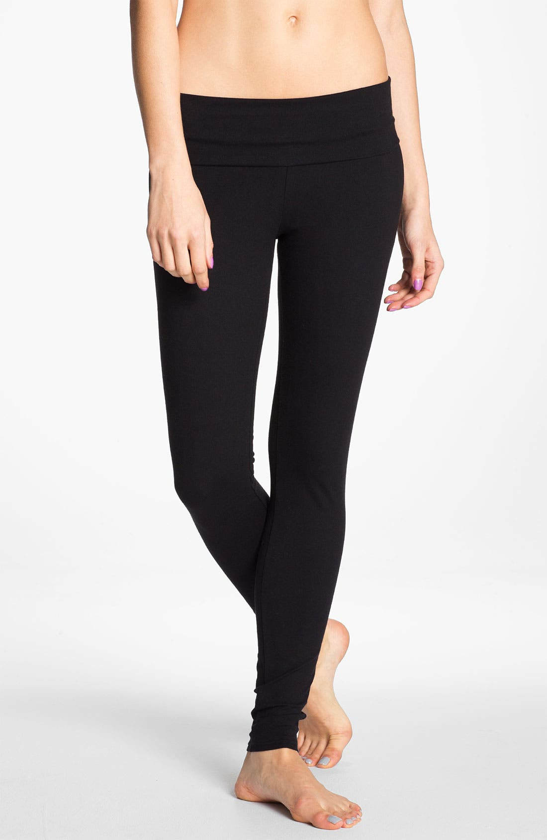 Alternate Image 1 Selected - BP. Undercover Foldover Leggings (Juniors)