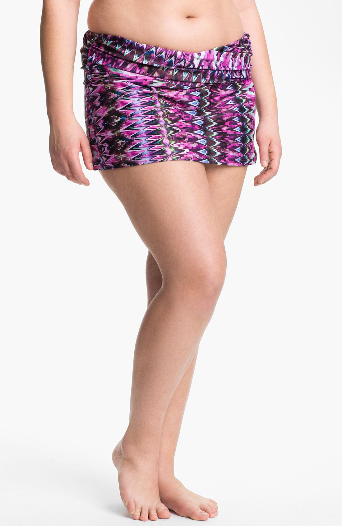 Main Image - Becca Etc. 'Zanzibar' Skirted Bikini Bottoms (Plus Size)