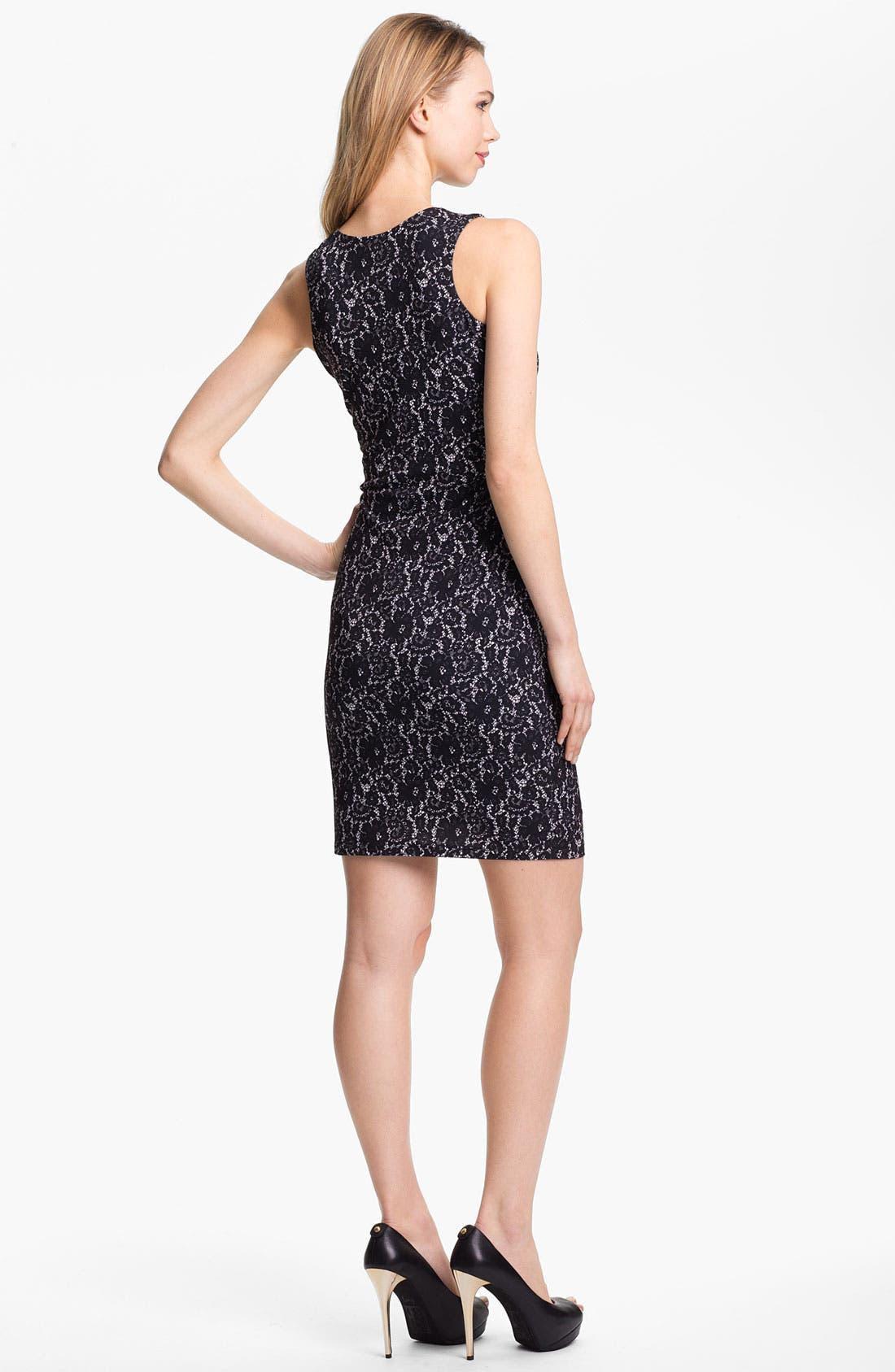 Alternate Image 2  - Vince Camuto Lace Print Sheath Dress