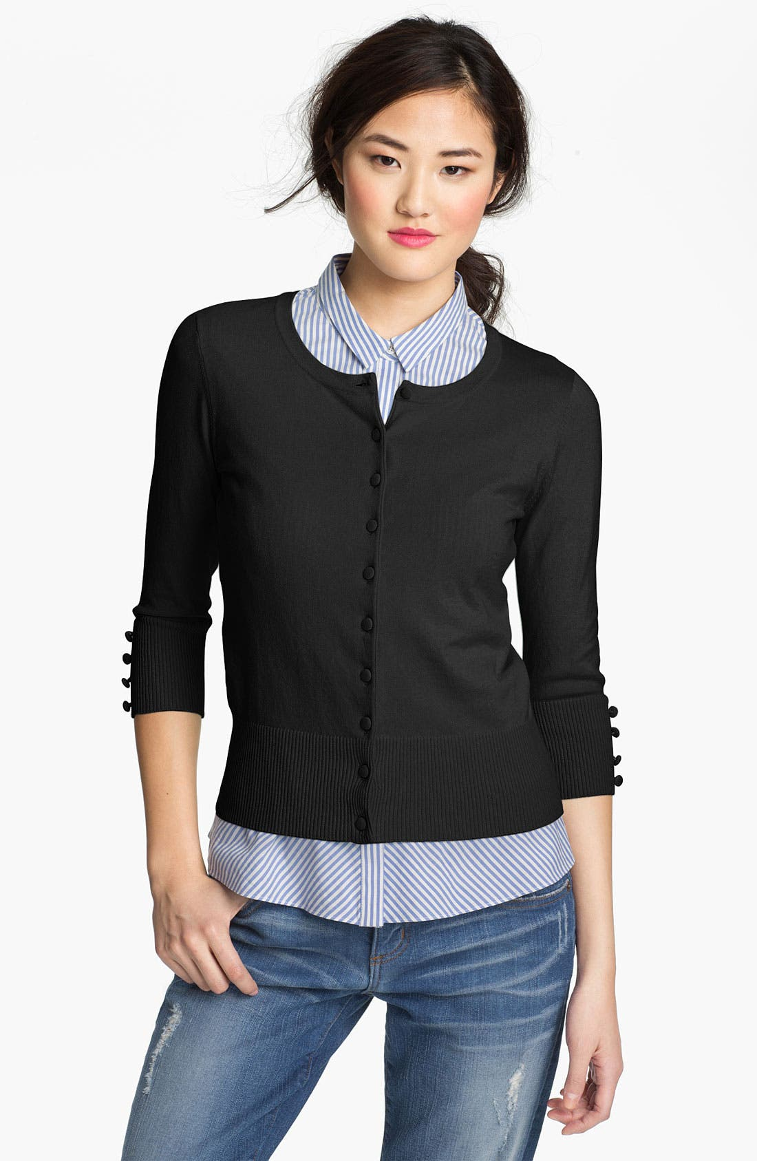 Alternate Image 1 Selected - Vince Camuto Button Front Cardigan