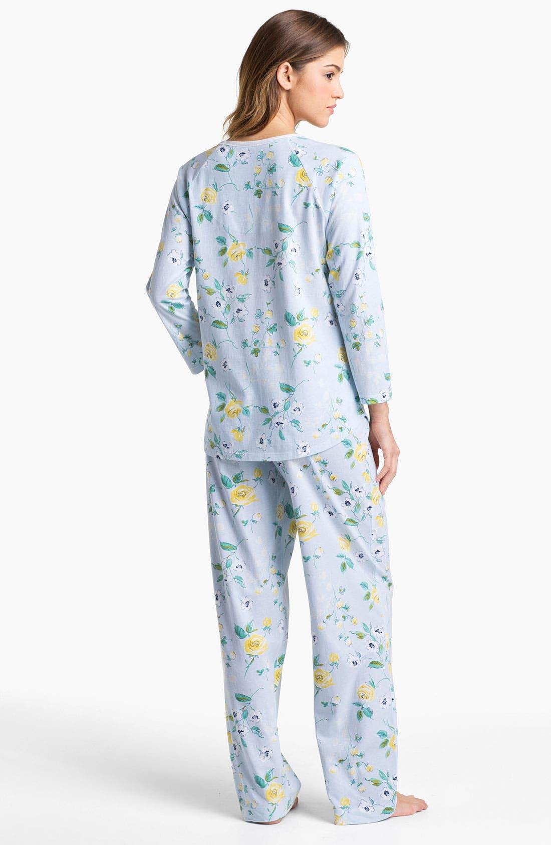 Alternate Image 2  - Carole Hochman Designs 'Vintage Rose' Pajamas