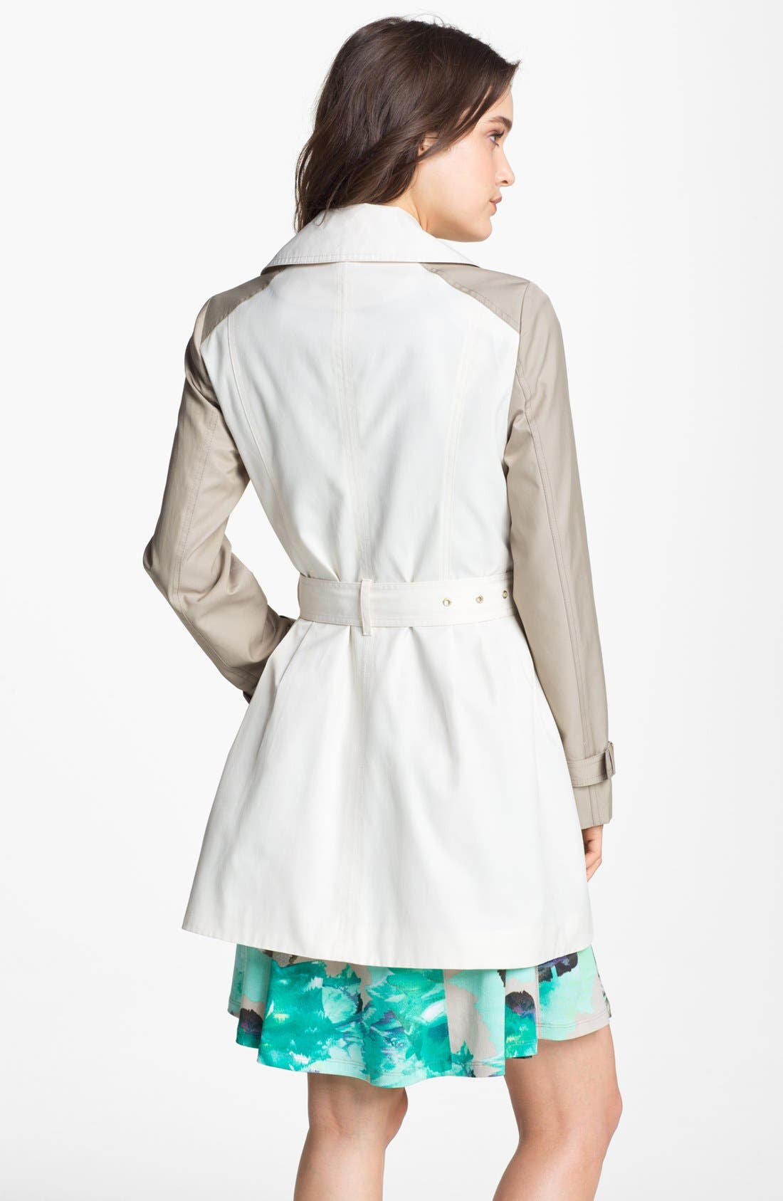 Alternate Image 2  - Kenneth Cole New York Colorblock Asymmetrical Zip Trench Coat