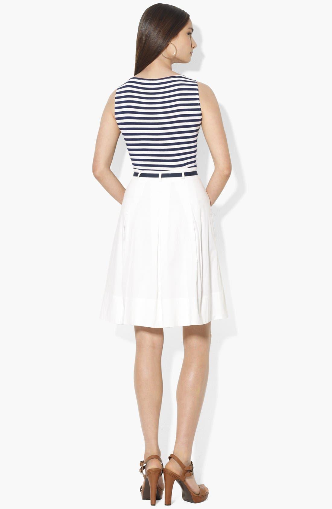 Alternate Image 2  - Lauren Ralph Lauren Mock Two Piece Dress