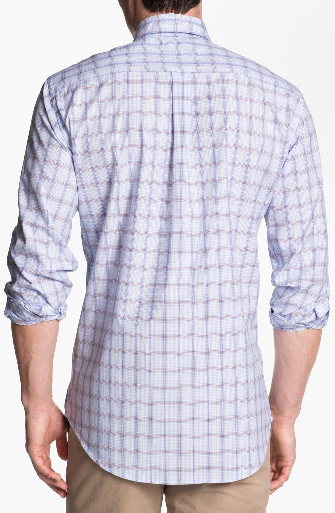 Alternate Image 2  - Peter Millar 'Zurich' Regular Fit Plaid Sport Shirt (Tall)