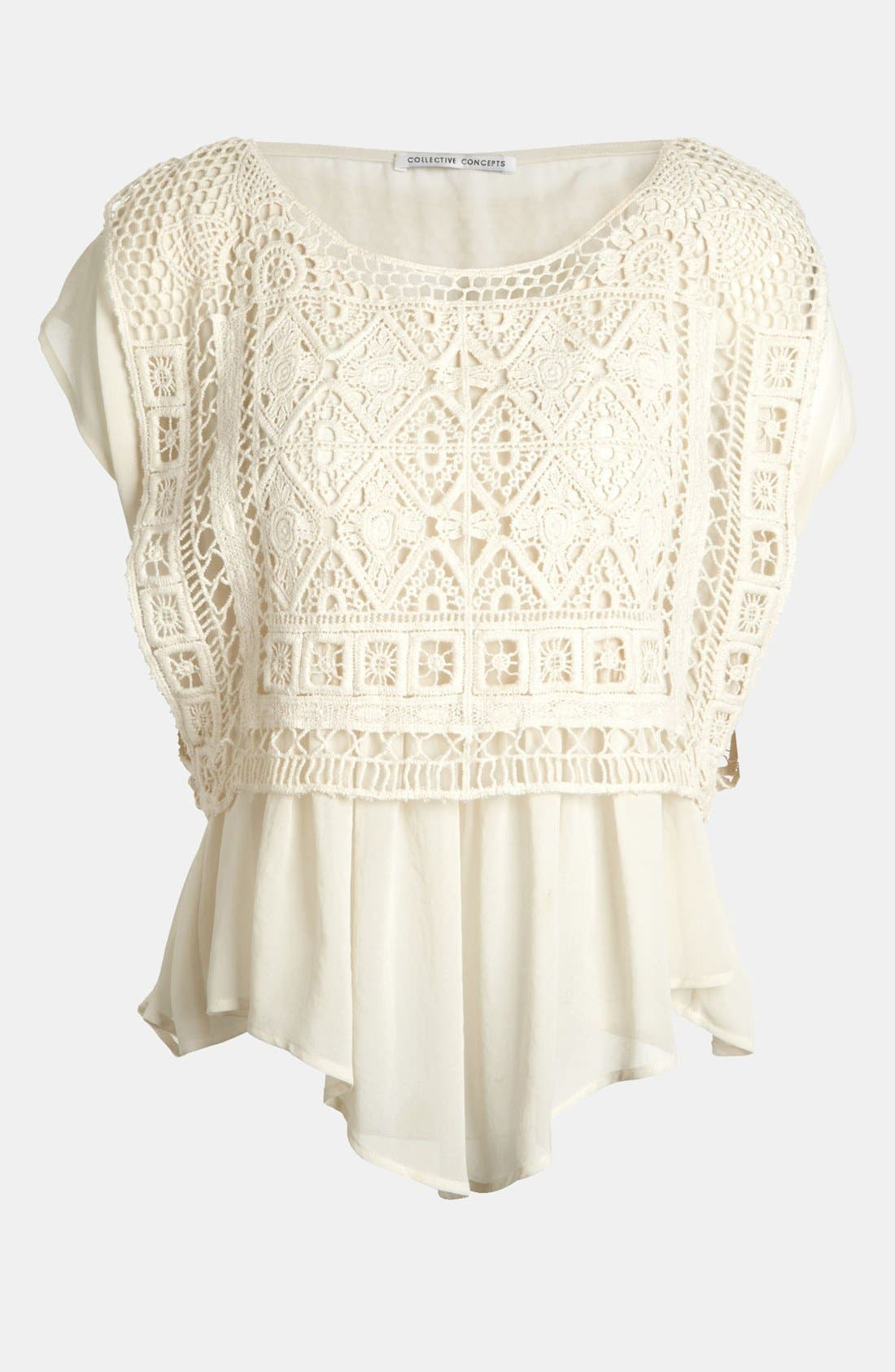 Alternate Image 1 Selected - Creative Commune Crochet Top