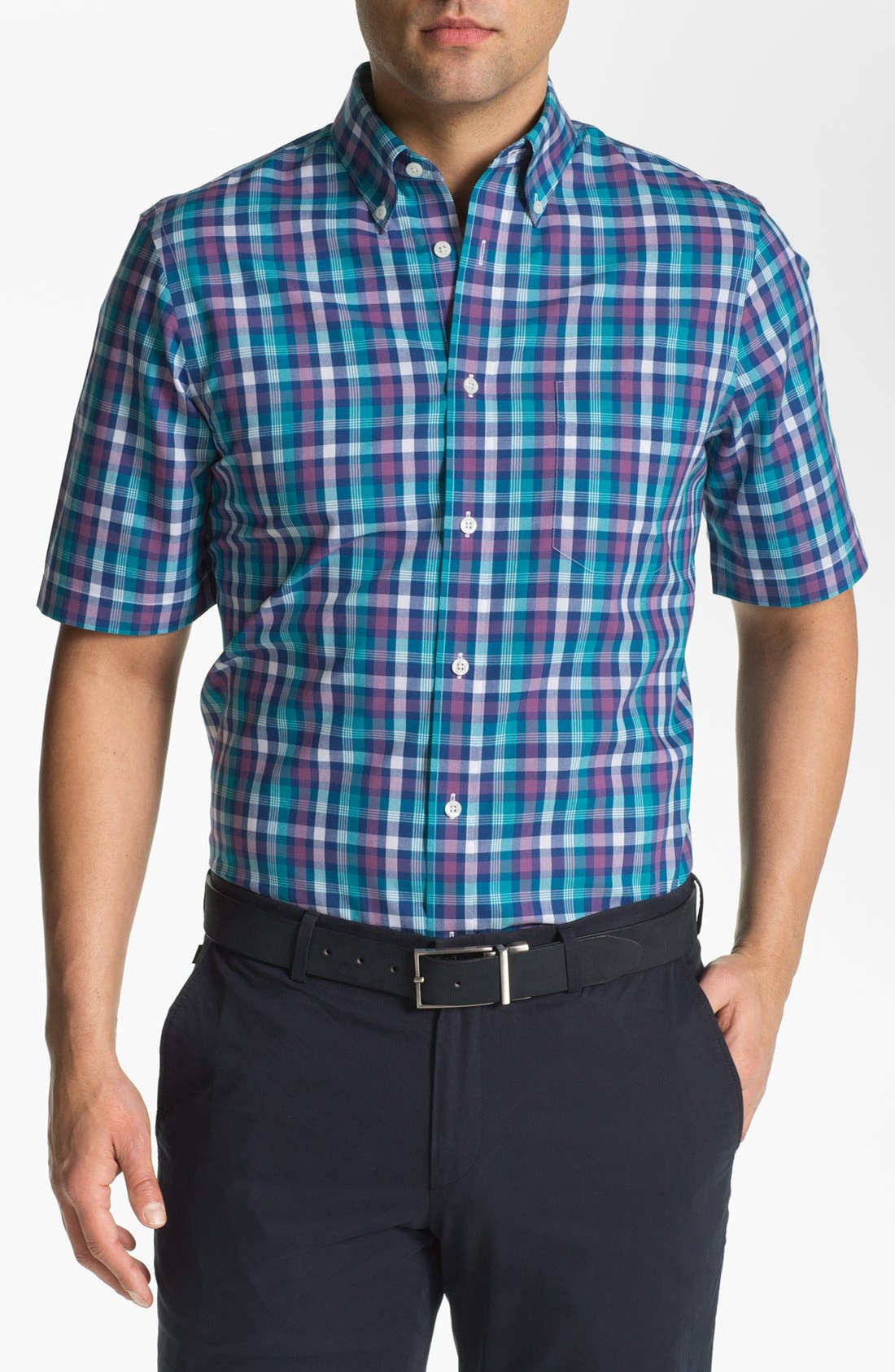 Alternate Image 1 Selected - Nordstrom Short Sleeve Poplin Sport Shirt