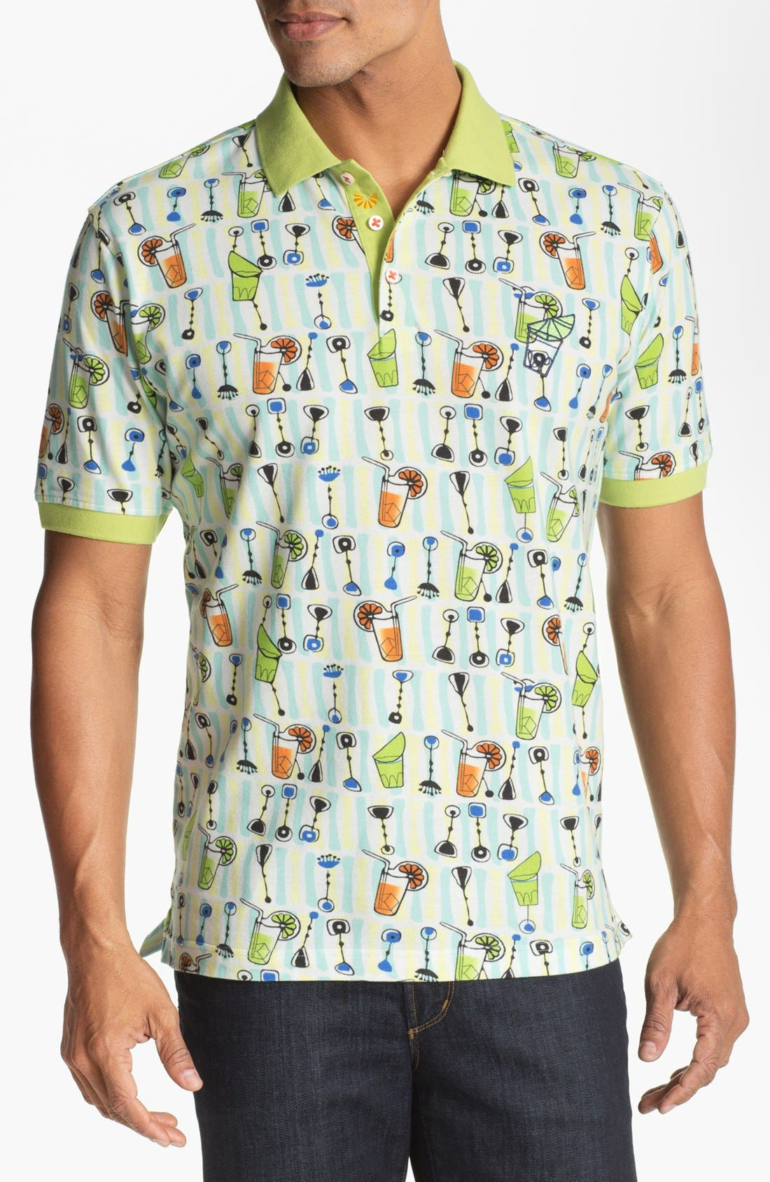 Alternate Image 1 Selected - Robert Graham 'Beach Party' Regular Fit Polo