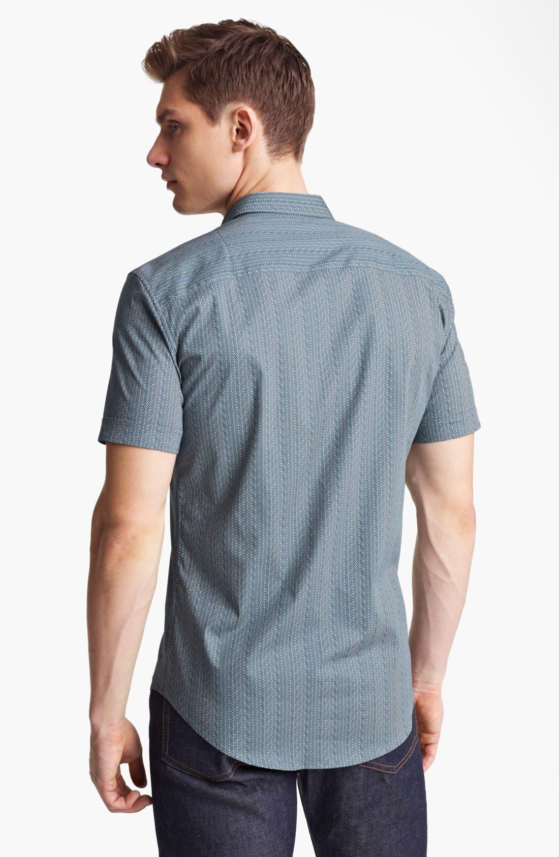 Alternate Image 2  - Z Zegna Geometric Print Woven Shirt