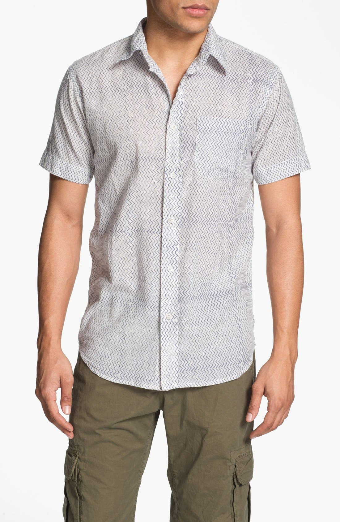 Alternate Image 1 Selected - Just A Cheap Shirt Short Sleeve Slim Fit Sport Shirt