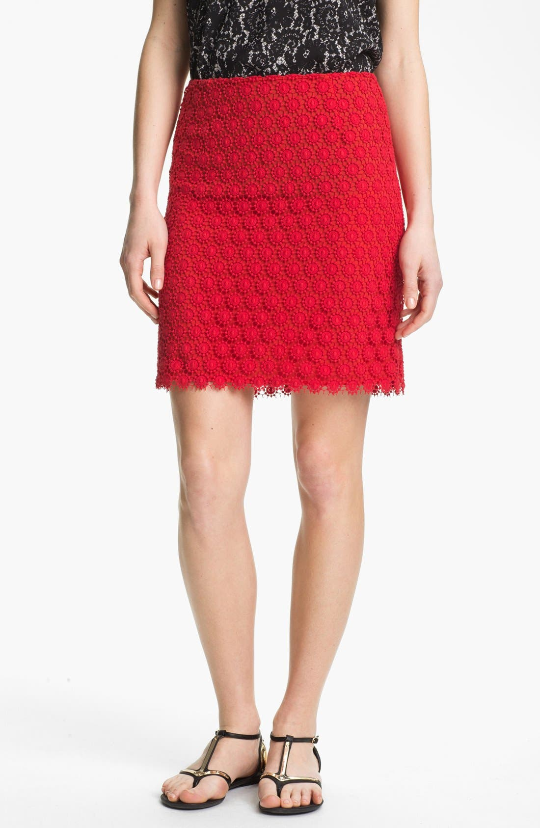 Alternate Image 1 Selected - Vince Camuto Lace Skirt