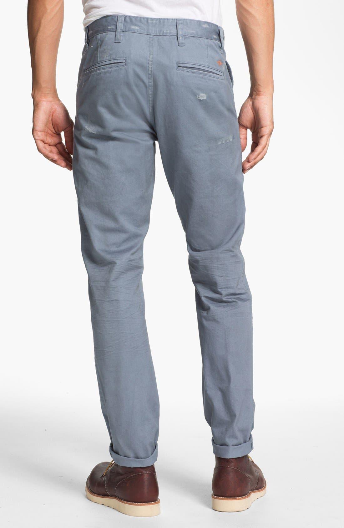 Alternate Image 2  - Dockers® 'Alpha Khaki - Destructed' Slim Straight Leg Chinos