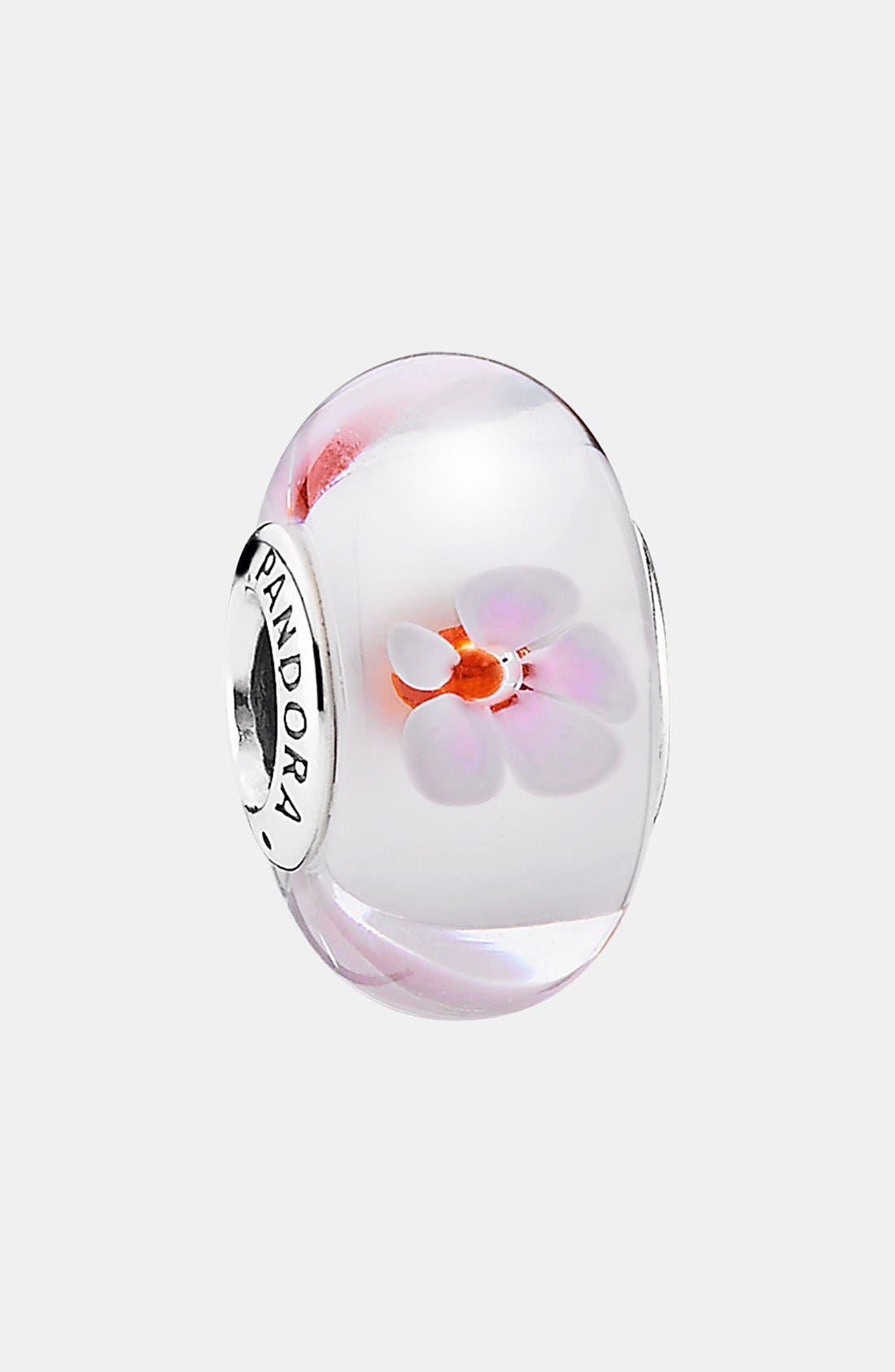 Main Image - PANDORA 'Cherry Blossom' Murano Glass Charm