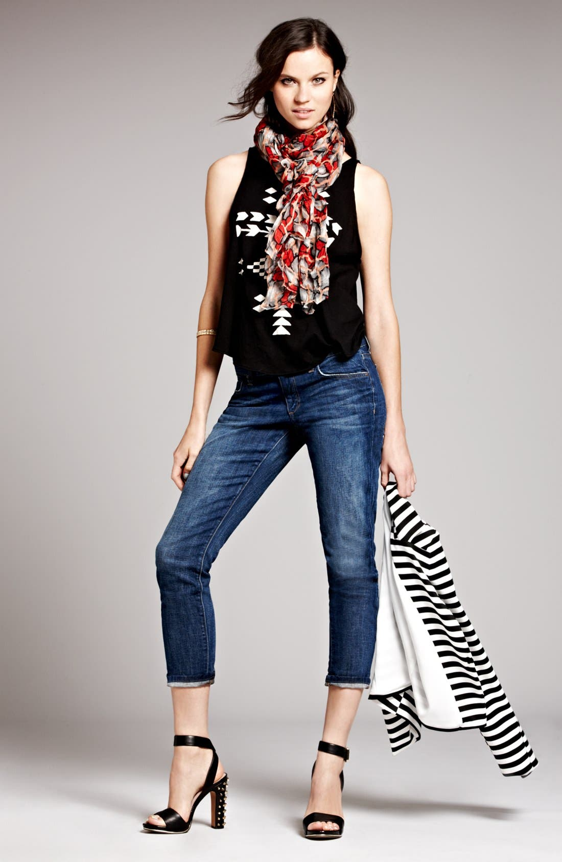 Alternate Image 4  - Robbi & Nikki Op-Art Stripe Blazer