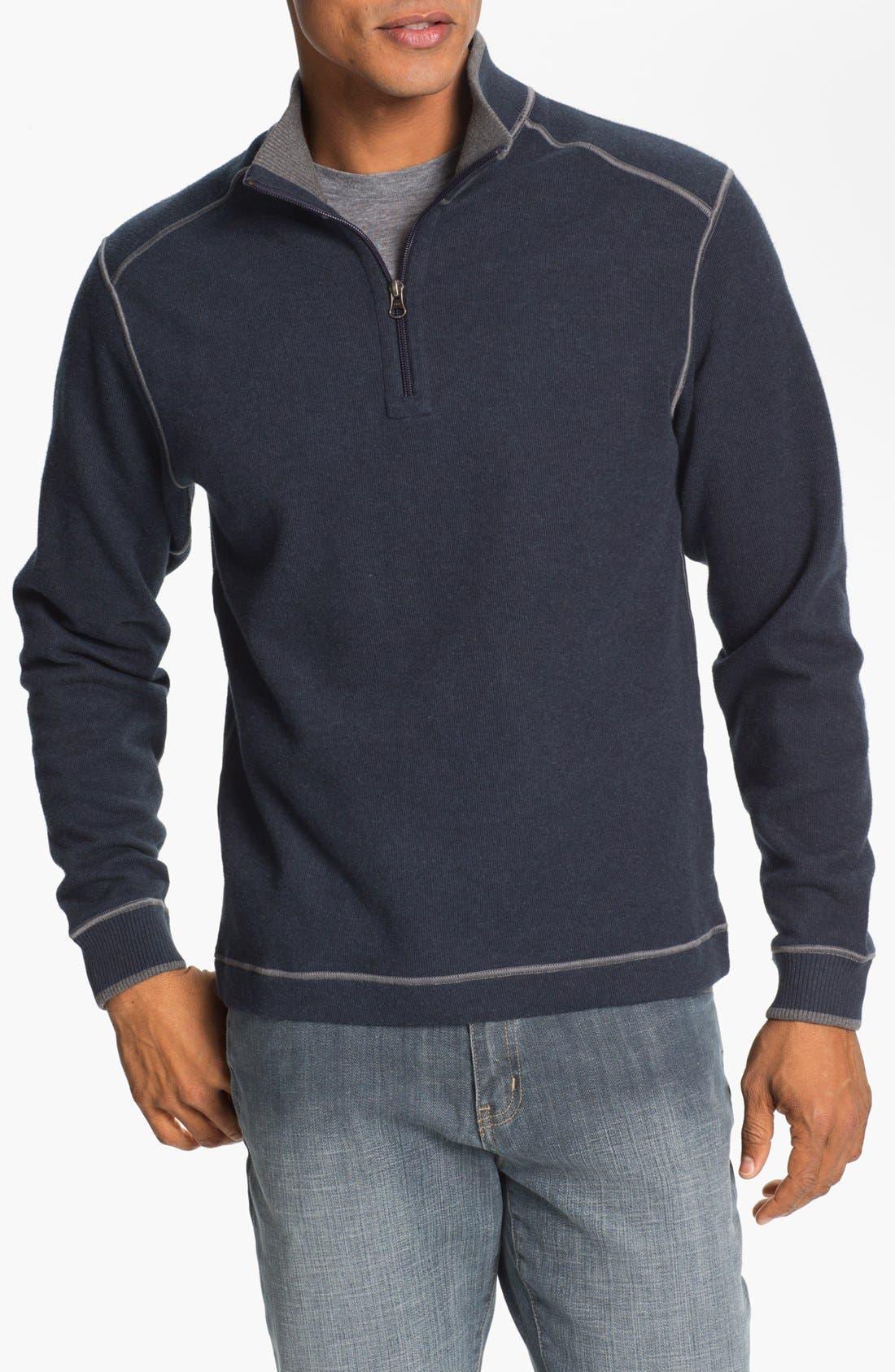 Alternate Image 1 Selected - Cutter & Buck 'Overtime' Regular Fit Half Zip Sweater (Big & Tall)