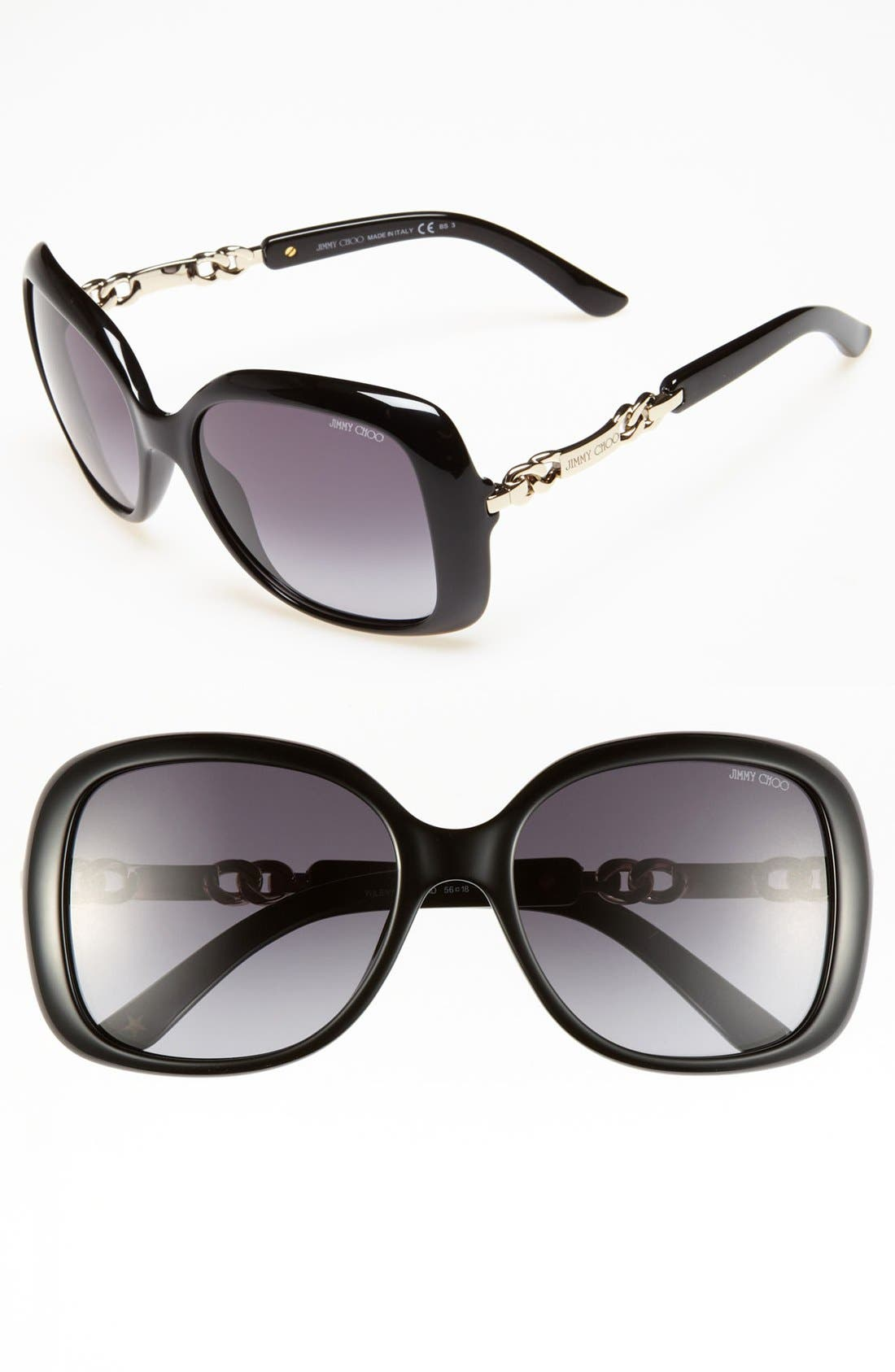 Alternate Image 1 Selected - Jimmy Choo 'Wiley' 56mm Sunglasses