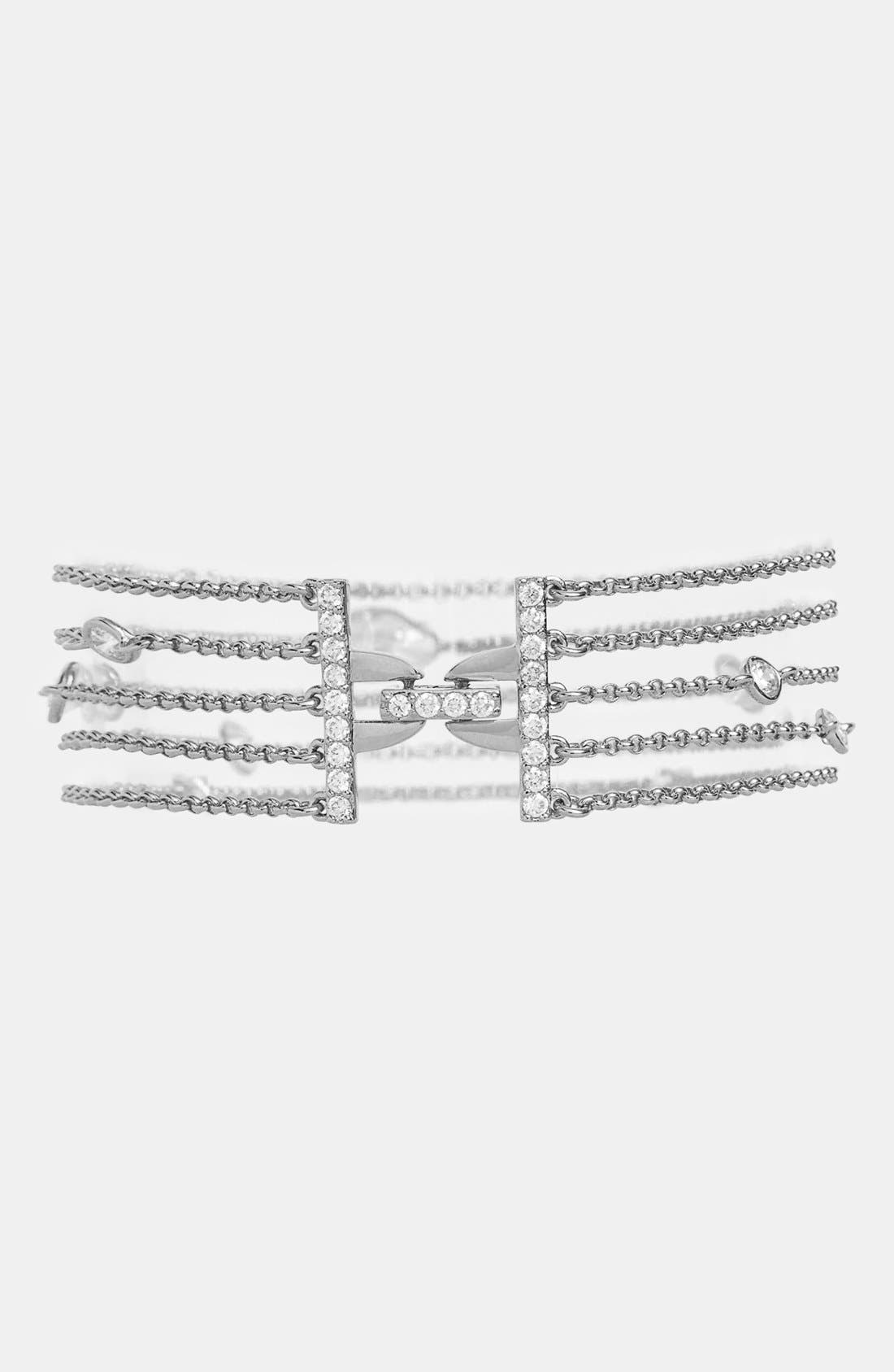 Alternate Image 1 Selected - Nadri 5-Row Station Bracelet (Nordstrom Exclusive)