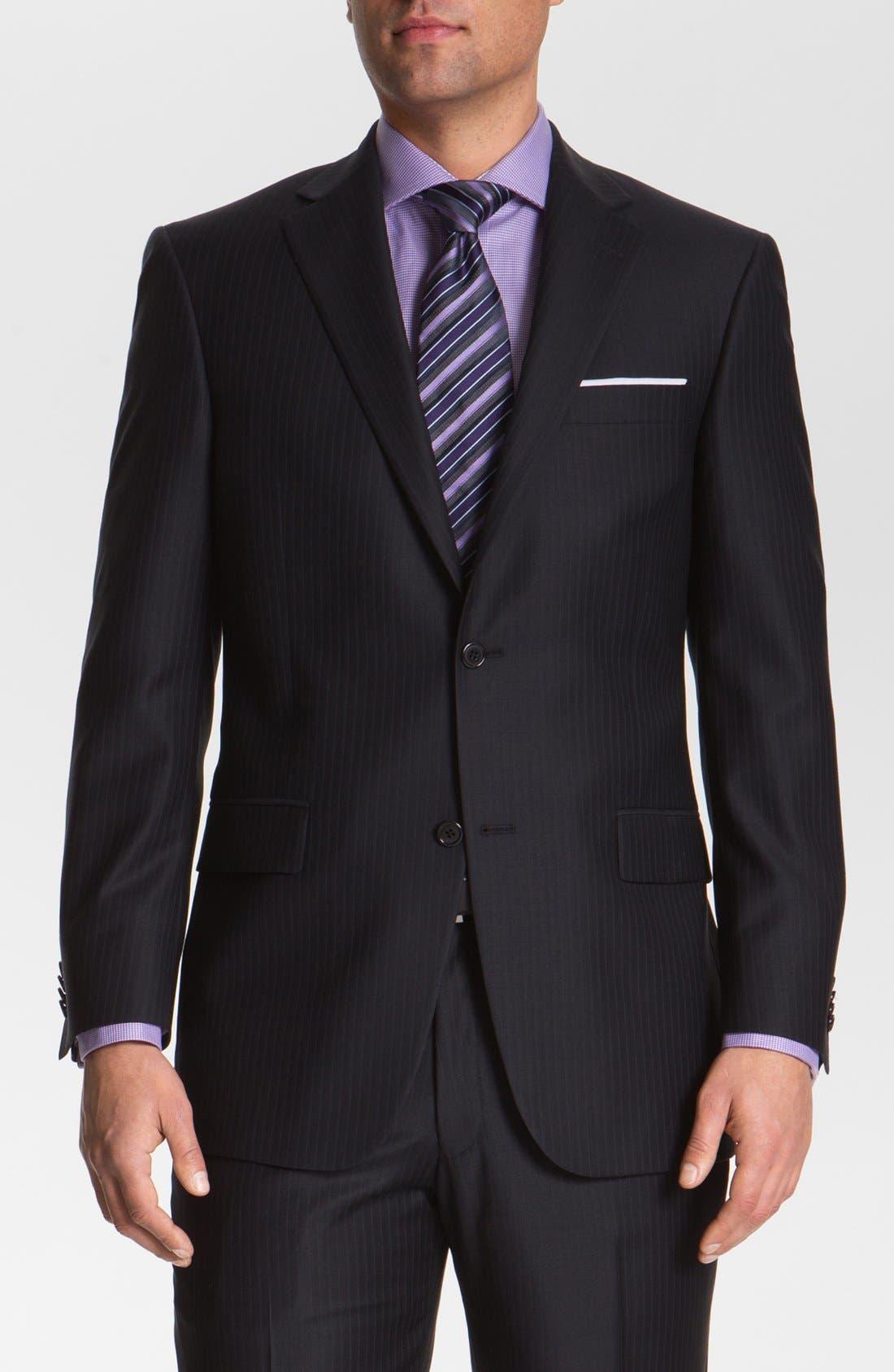 Alternate Image 1 Selected - Hart Schaffner Marx Stripe Wool Suit (Big)