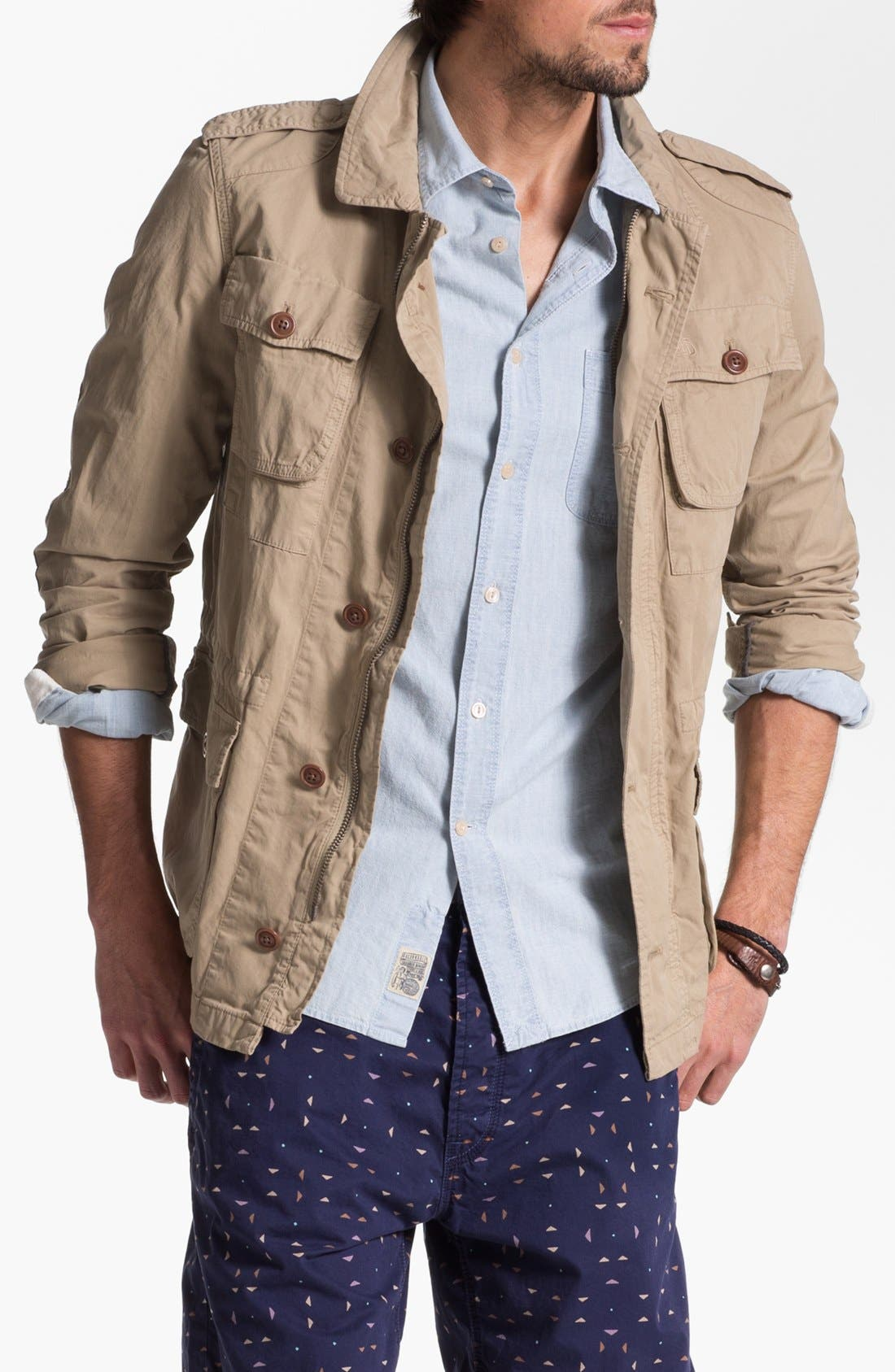 Alternate Image 1 Selected - Façonnable Tailored Denim Field Jacket