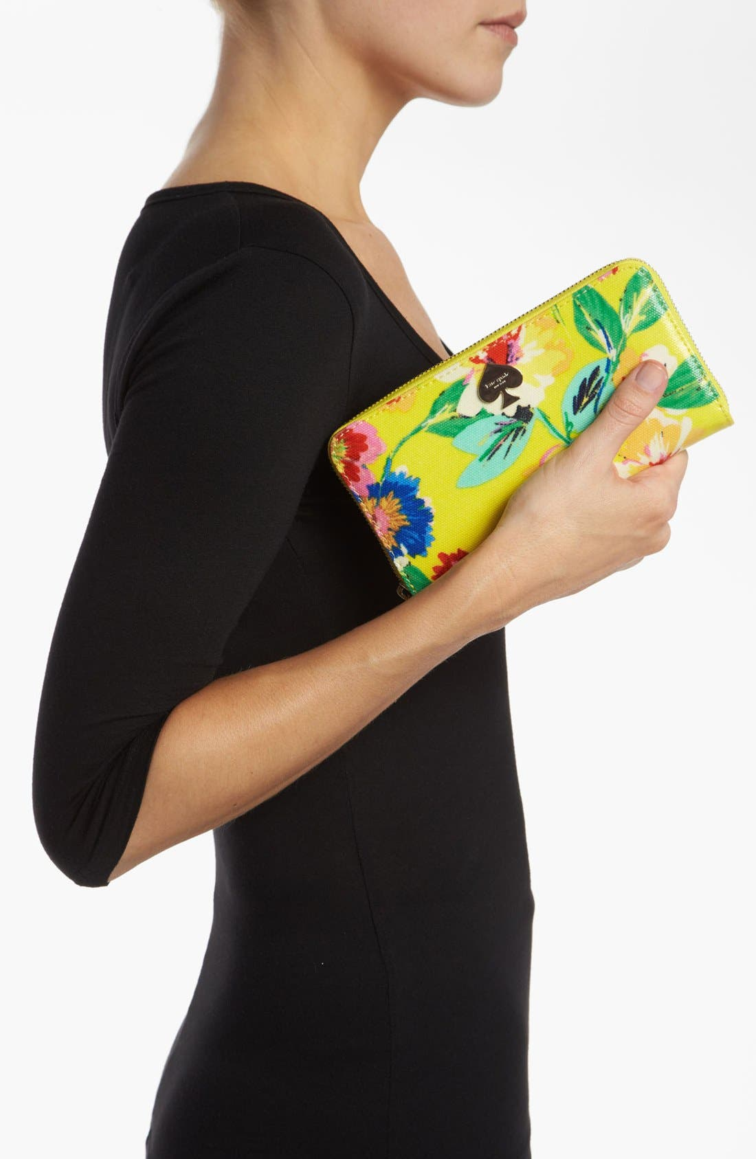 Alternate Image 2  - kate spade new york 'grove court floral - lacey' zip around wallet