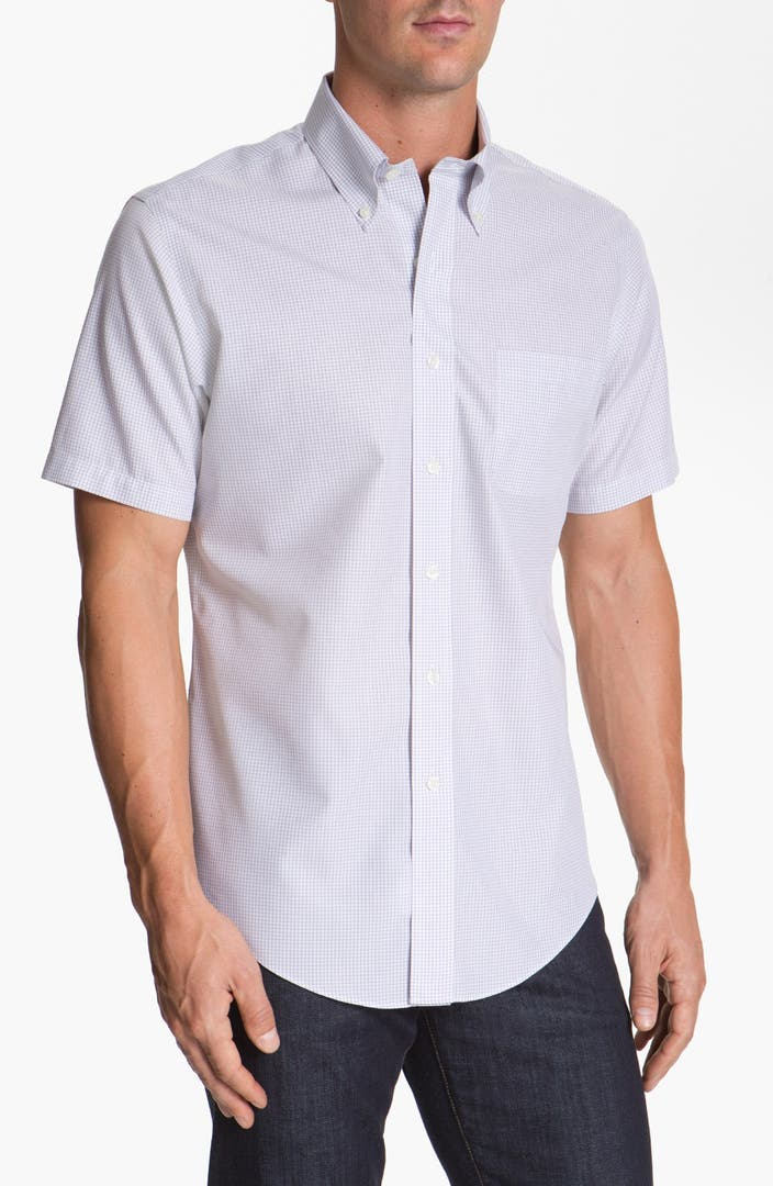 brooks brothers regular fit non iron short sleeve sport