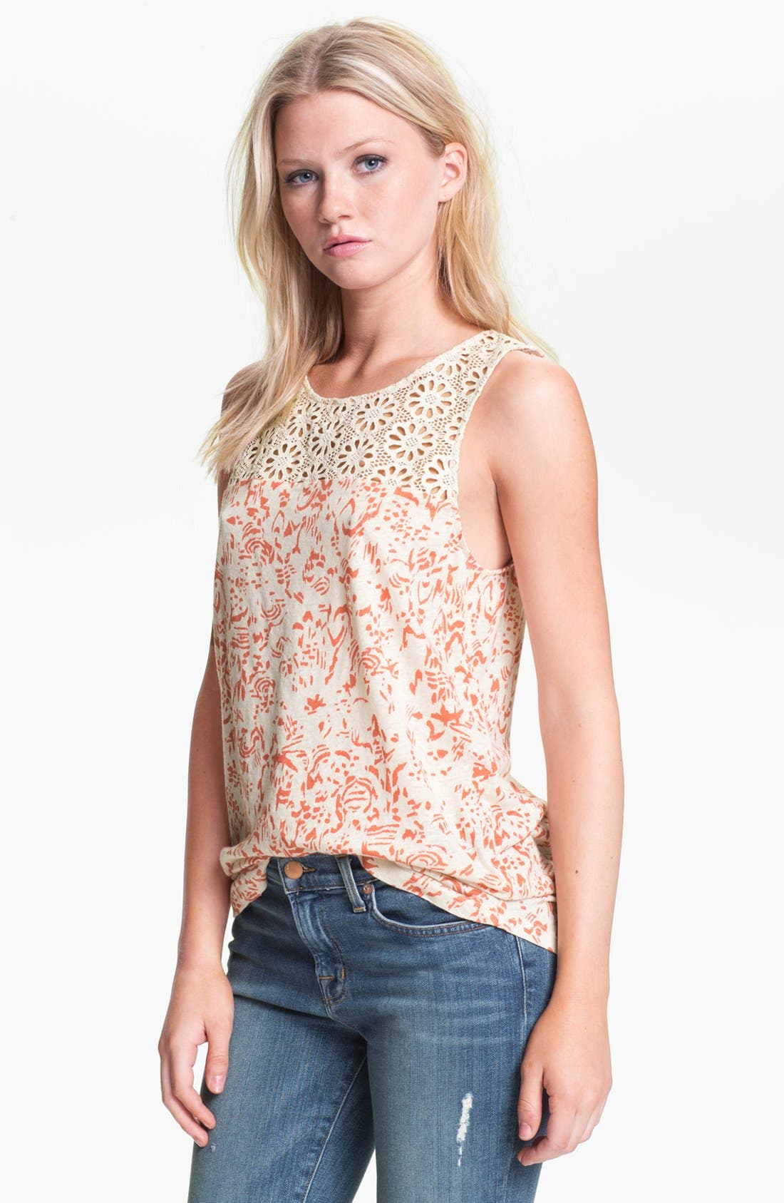 Main Image - Hinge® Crochet Tank Top