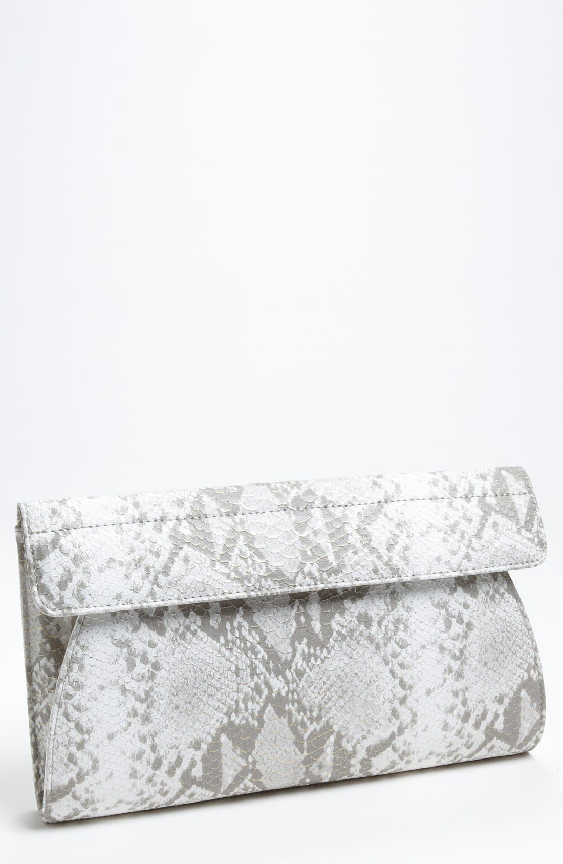 Main Image - Urban Expressions Handbags Snake Embossed Clutch