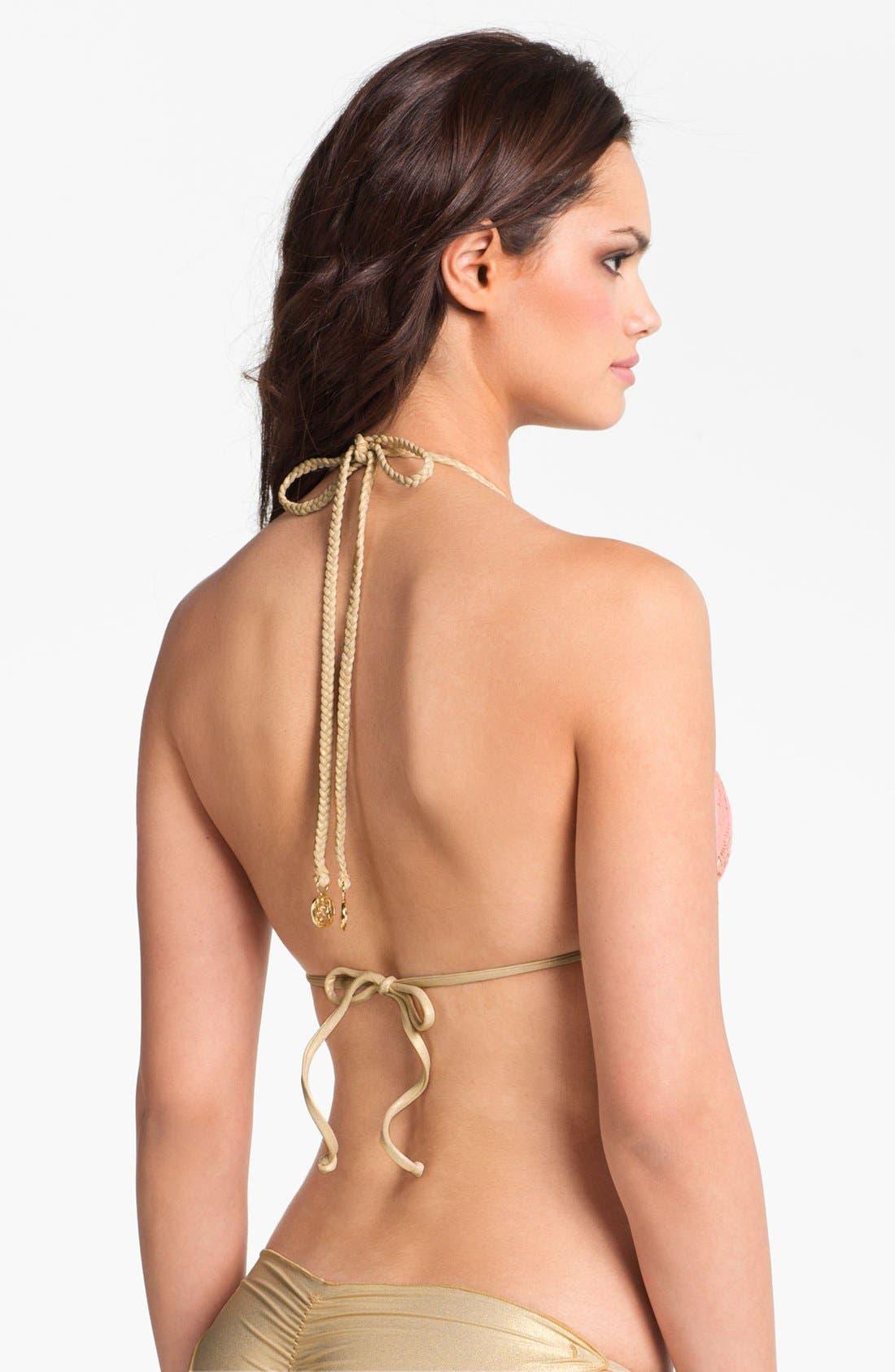 Alternate Image 2  - Luli Fama 'Delicia' Crochet Bikini Top