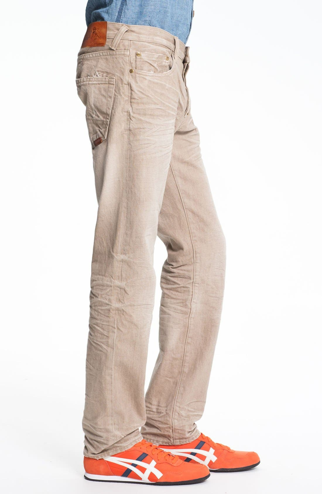Alternate Image 3  - PRPS 'Vesta Rambler' Slim Fit Jeans (Beige)
