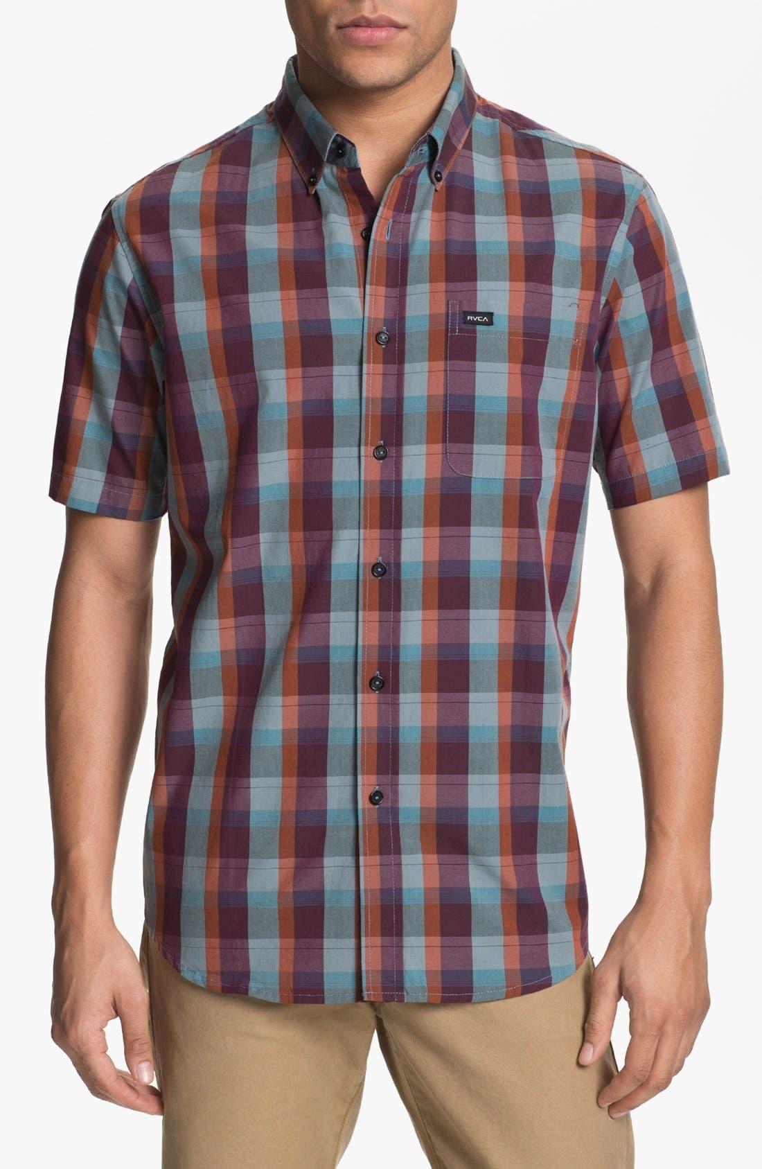 Main Image - RVCA 'Mingus' Plaid Woven Shirt