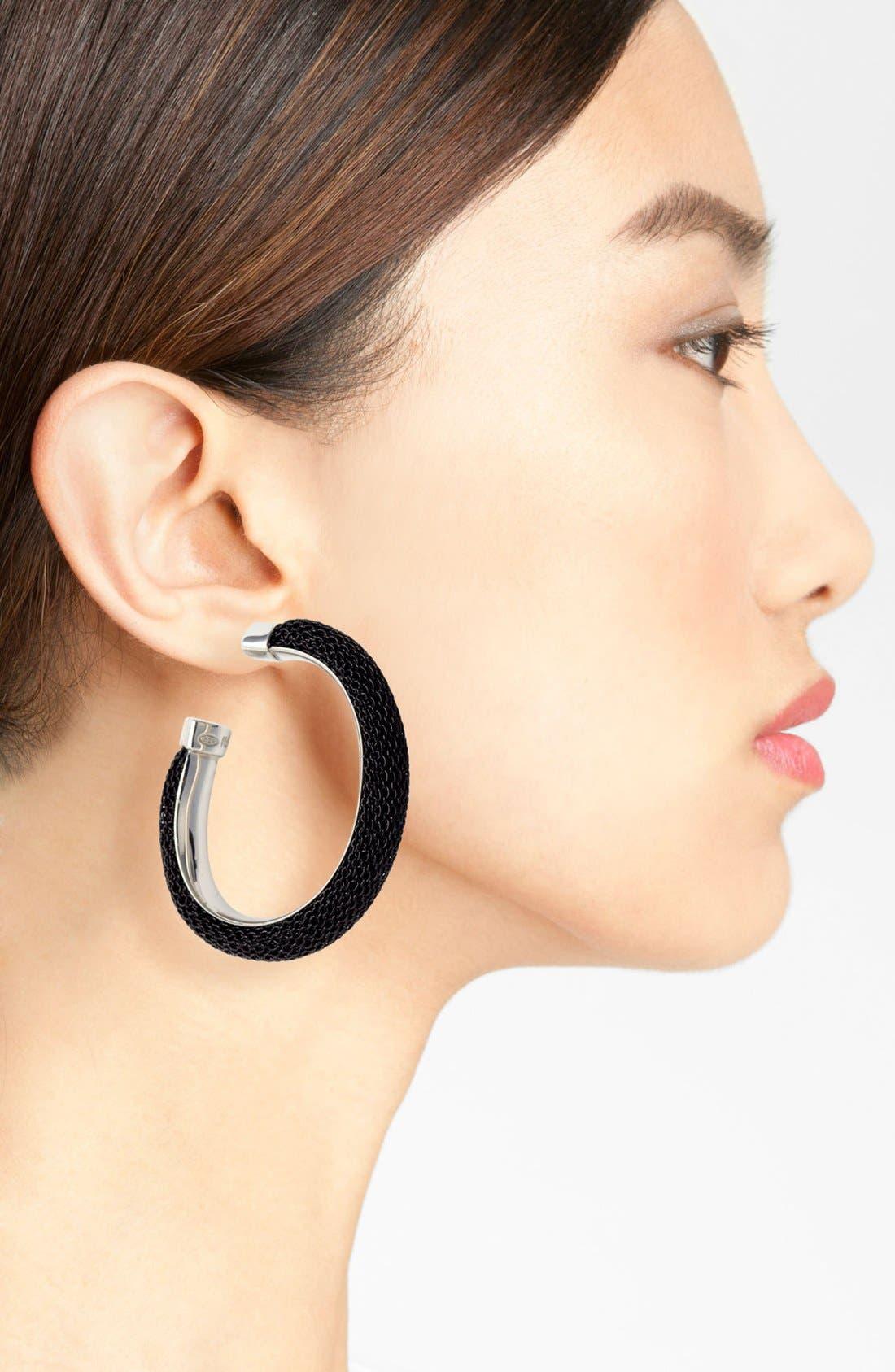 Alternate Image 2  - Adami & Martucci 'Mesh' Oval Hoop Earrings (Nordstrom Exclusive)
