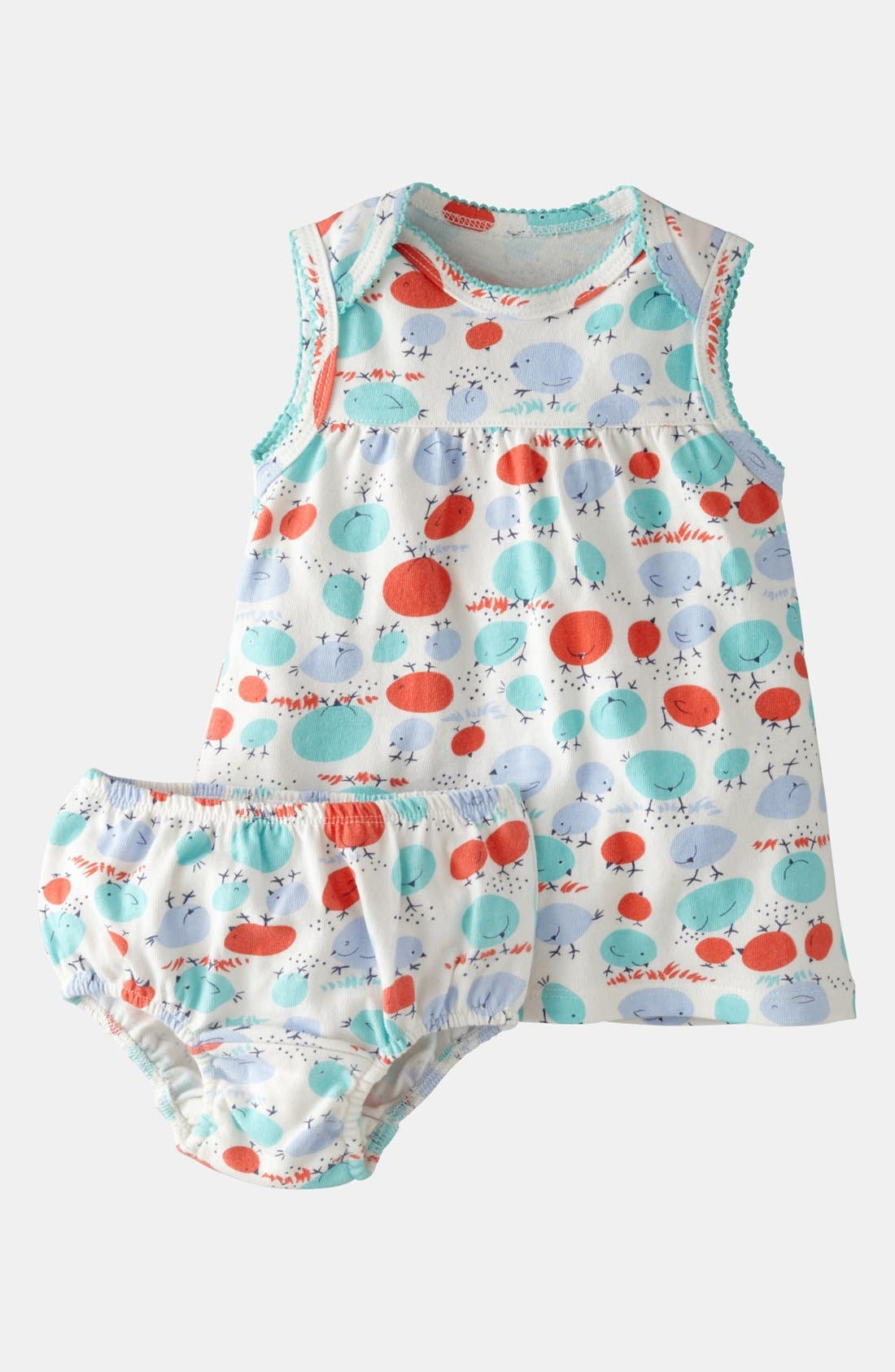 Alternate Image 1 Selected - Mini Boden Print Jersey Dress & Bloomers (Baby)