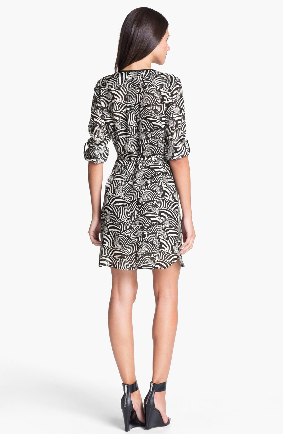 Alternate Image 2  - Trina Turk 'Essie' Silk Shirtdress
