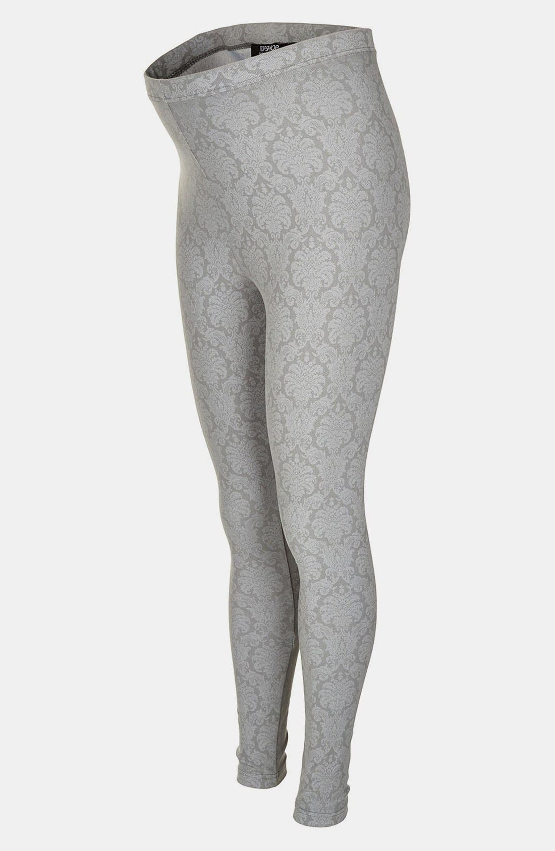 Alternate Image 1 Selected - Topshop Paisley Maternity Leggings