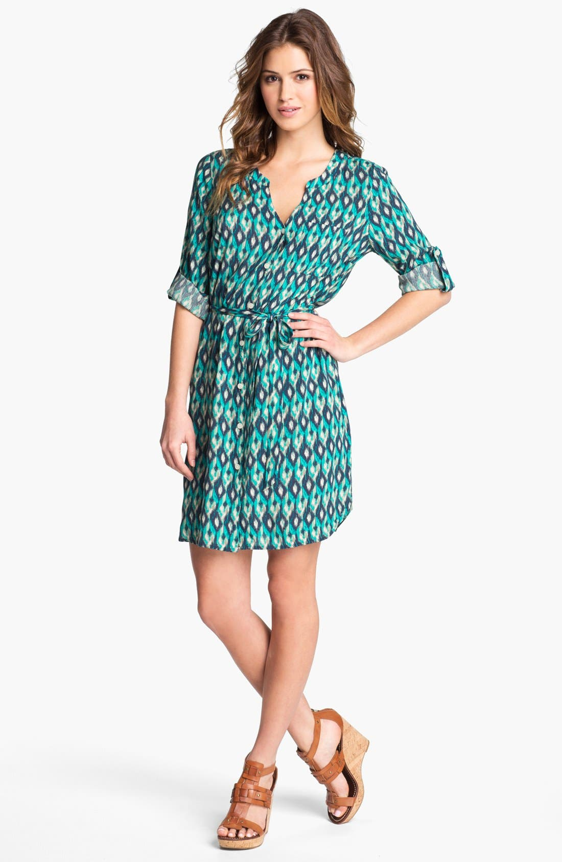 Alternate Image 1 Selected - Lucky Brand 'Vailea' Shirtdress