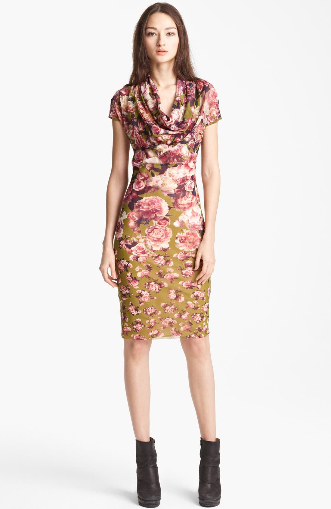 Alternate Image 1 Selected - Jean Paul Gaultier Fuzzi Rose Print Tulle Dress