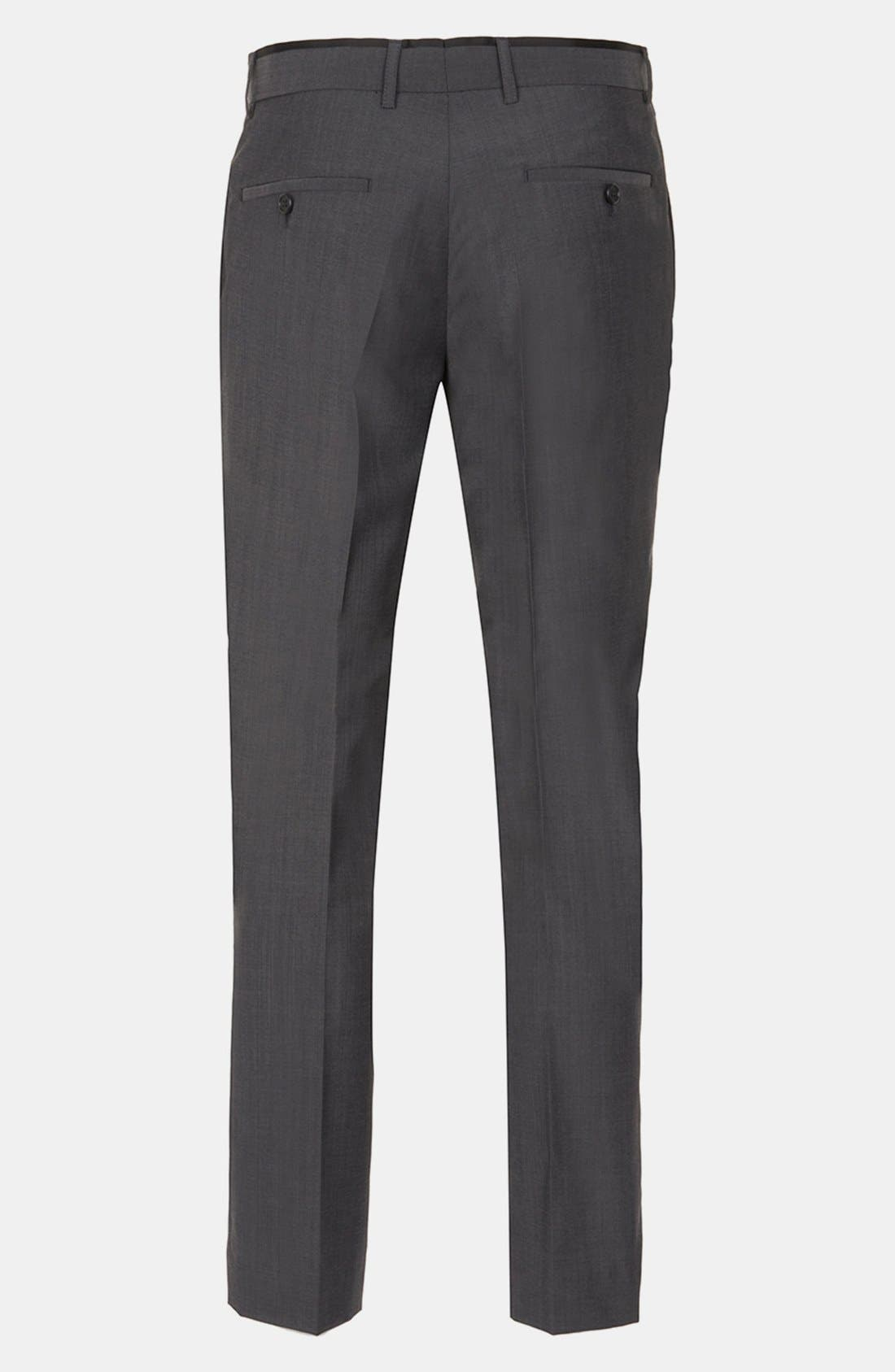 Alternate Image 2  - Topman Skinny Flat Front Trousers