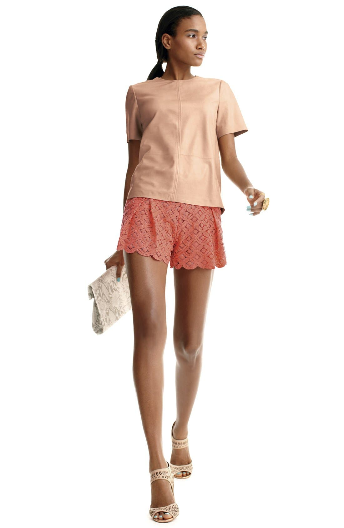Alternate Image 4  - Two by Vince Camuto Pleated Lace Shorts