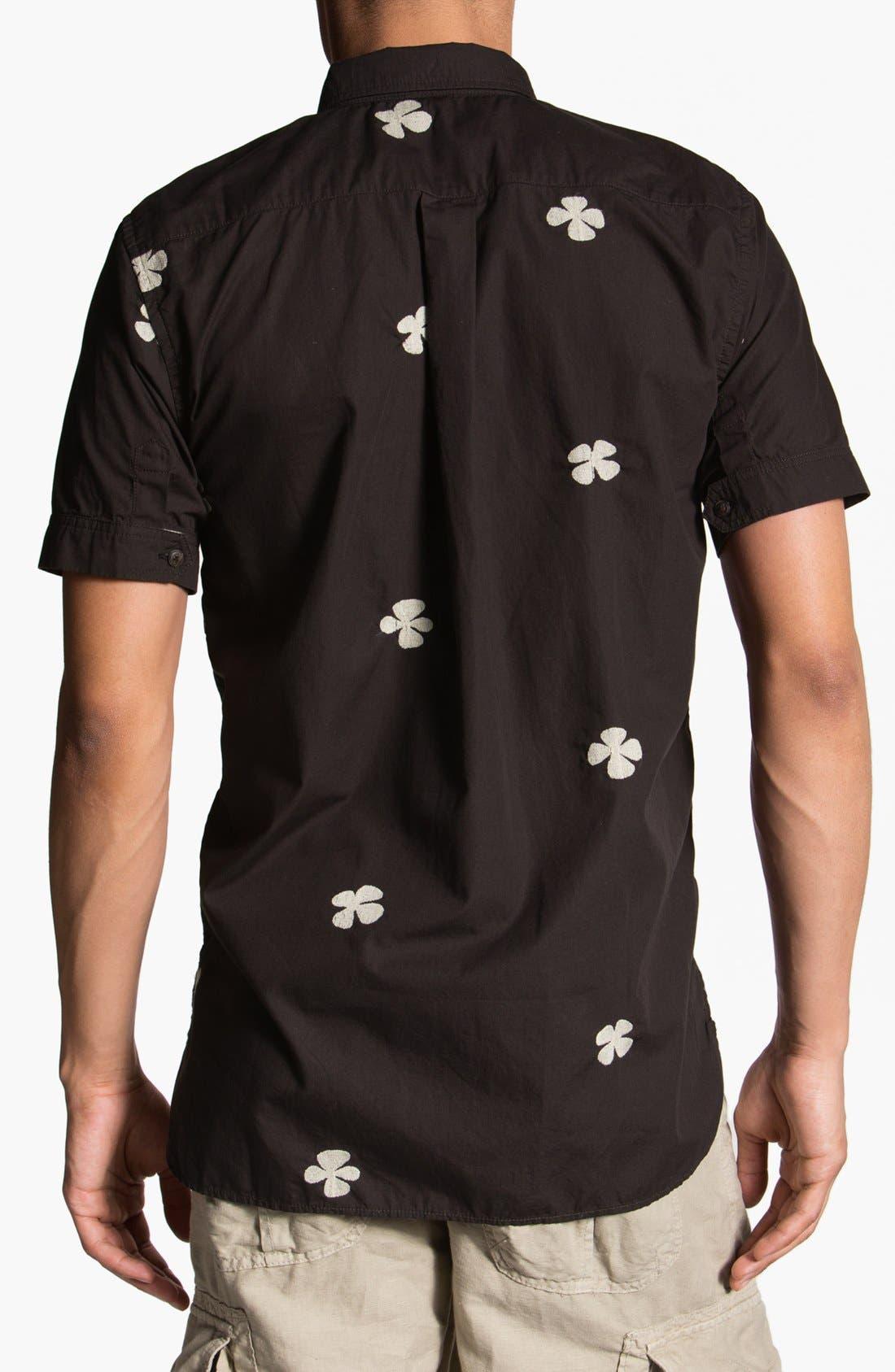 Alternate Image 2  - Burkman Bros Short Sleeve Pullover Woven Shirt