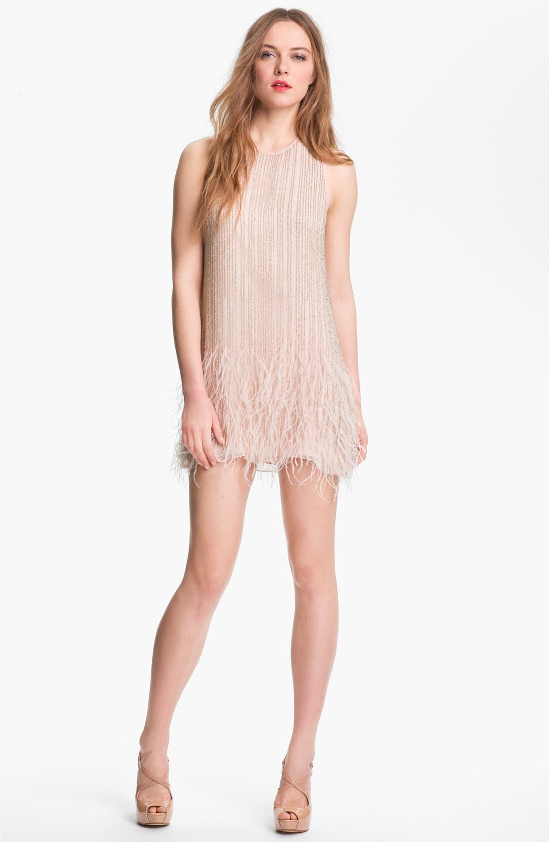 Main Image - Parker 'Allegra' Embellished Silk Shift Dress