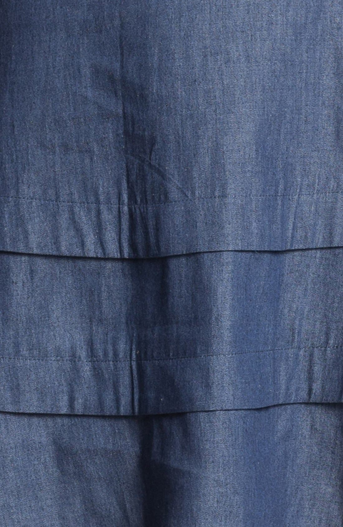 Alternate Image 3  - Adrianna Papell Faux Wrap Chambray Dress