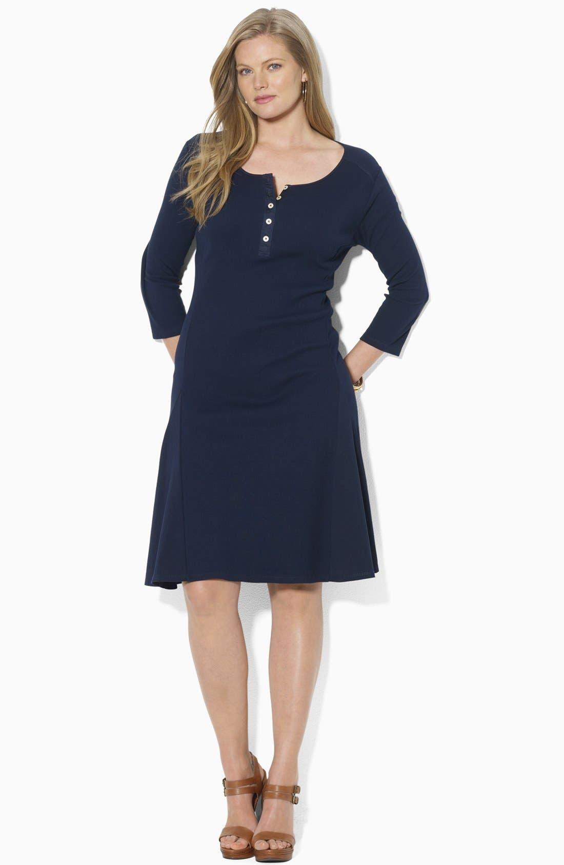 Alternate Image 2  - Lauren Ralph Lauren Henley A-Line Dress (Plus)