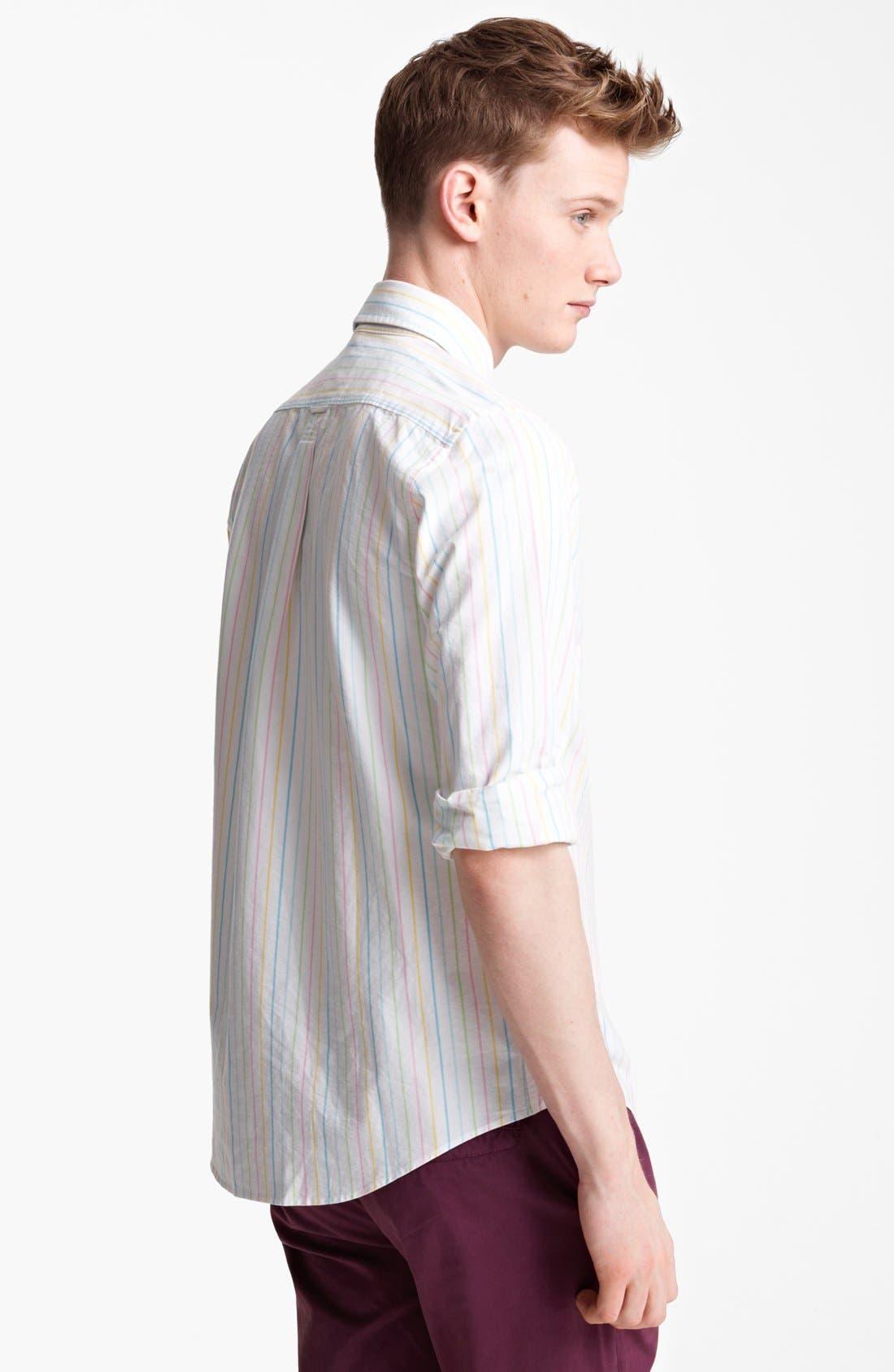 Alternate Image 2  - Jack Spade Rainbow Stripe Oxford Shirt