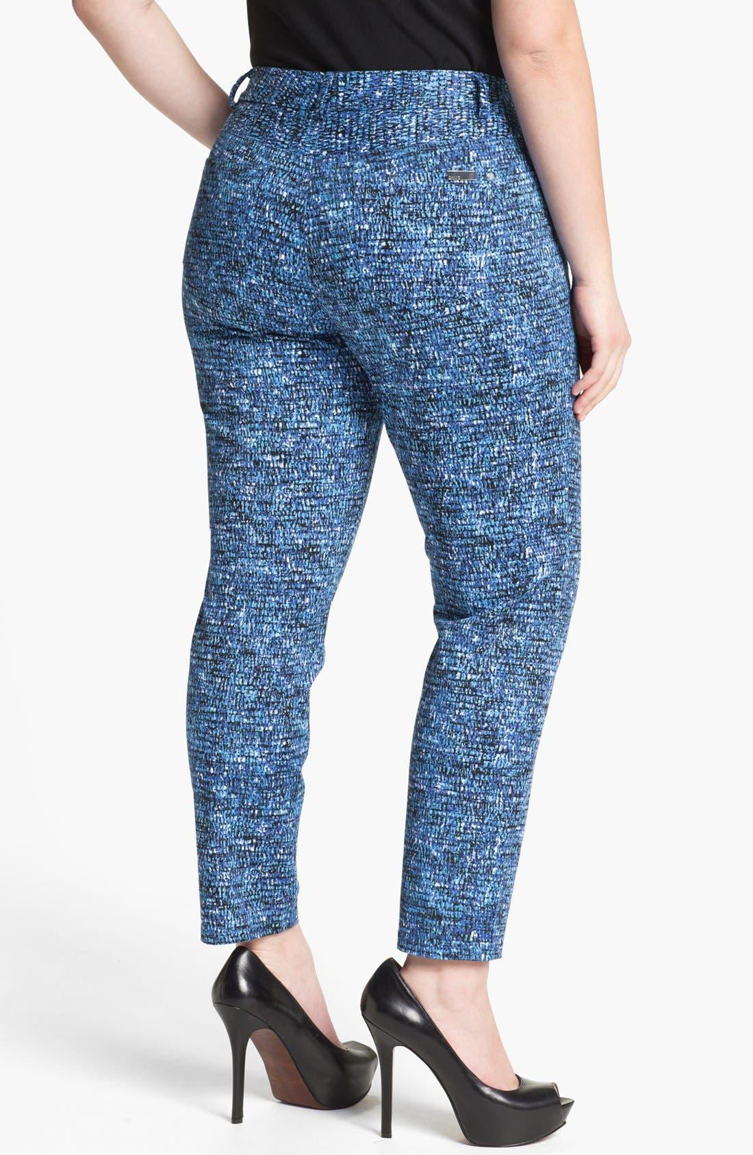 Alternate Image 2  - DKNYC Skinny Ankle Jeans (Plus Size)
