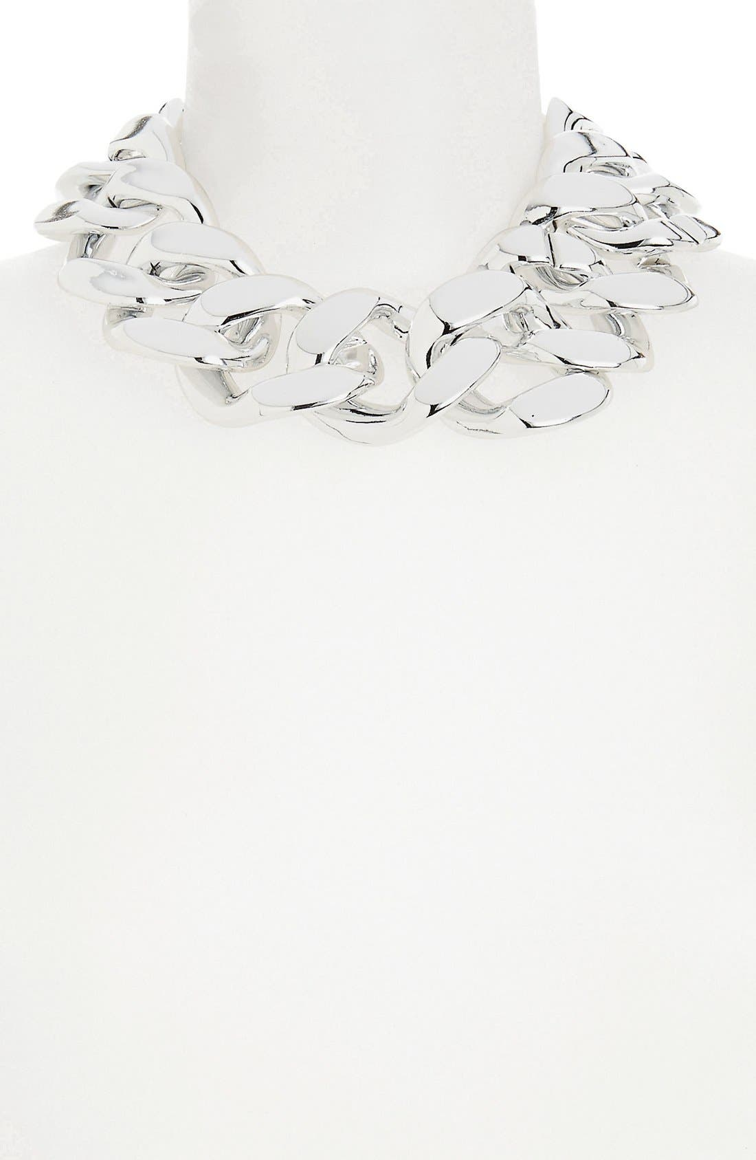 Alternate Image 1 Selected - Topshop 'Extra Chunky' Chain Collar Necklace