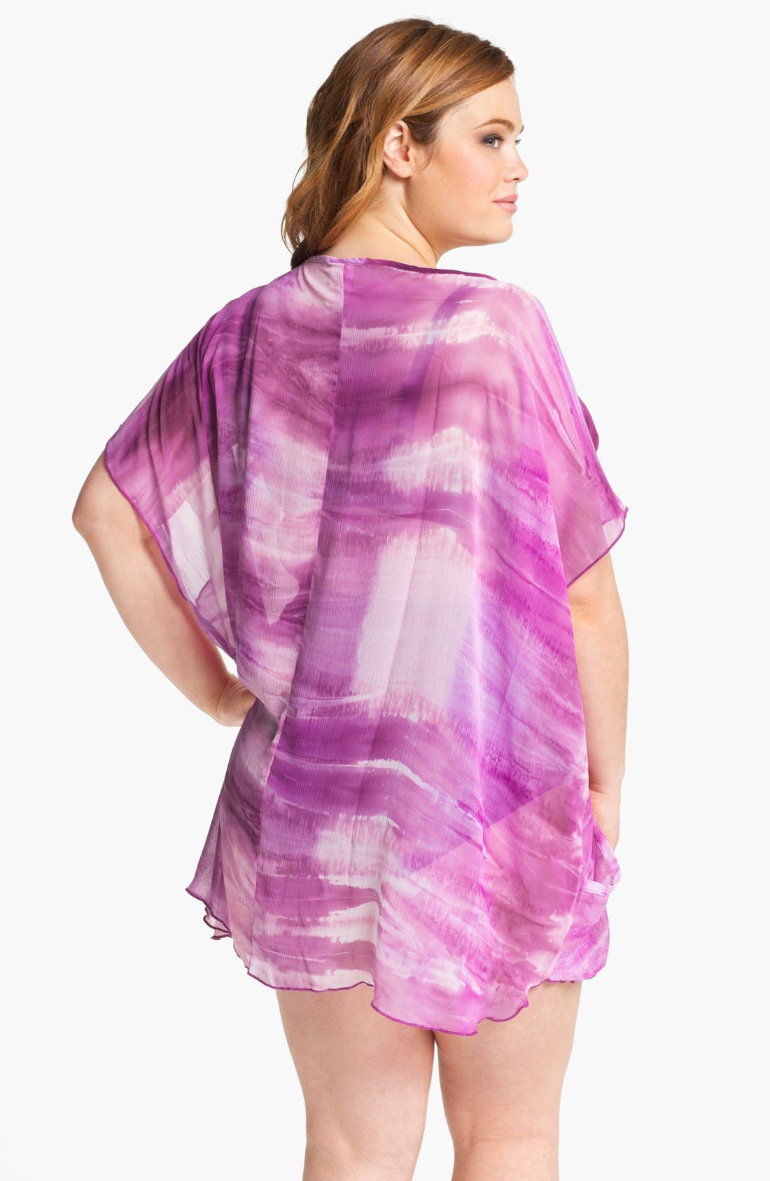 Alternate Image 2  - Becca Etc. 'Crystal Cove' Tunic Cover-Up (Plus Size)