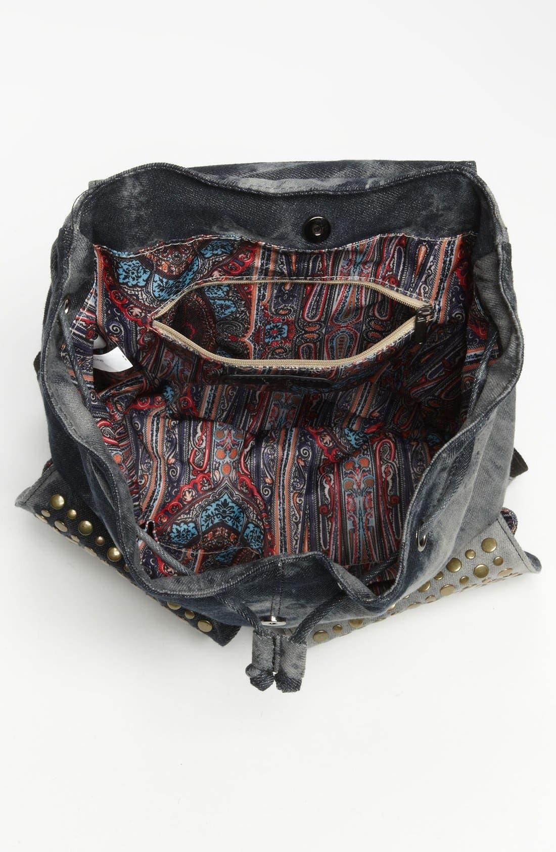 Alternate Image 3  - De L'avion Studded Acid Wash Backpack