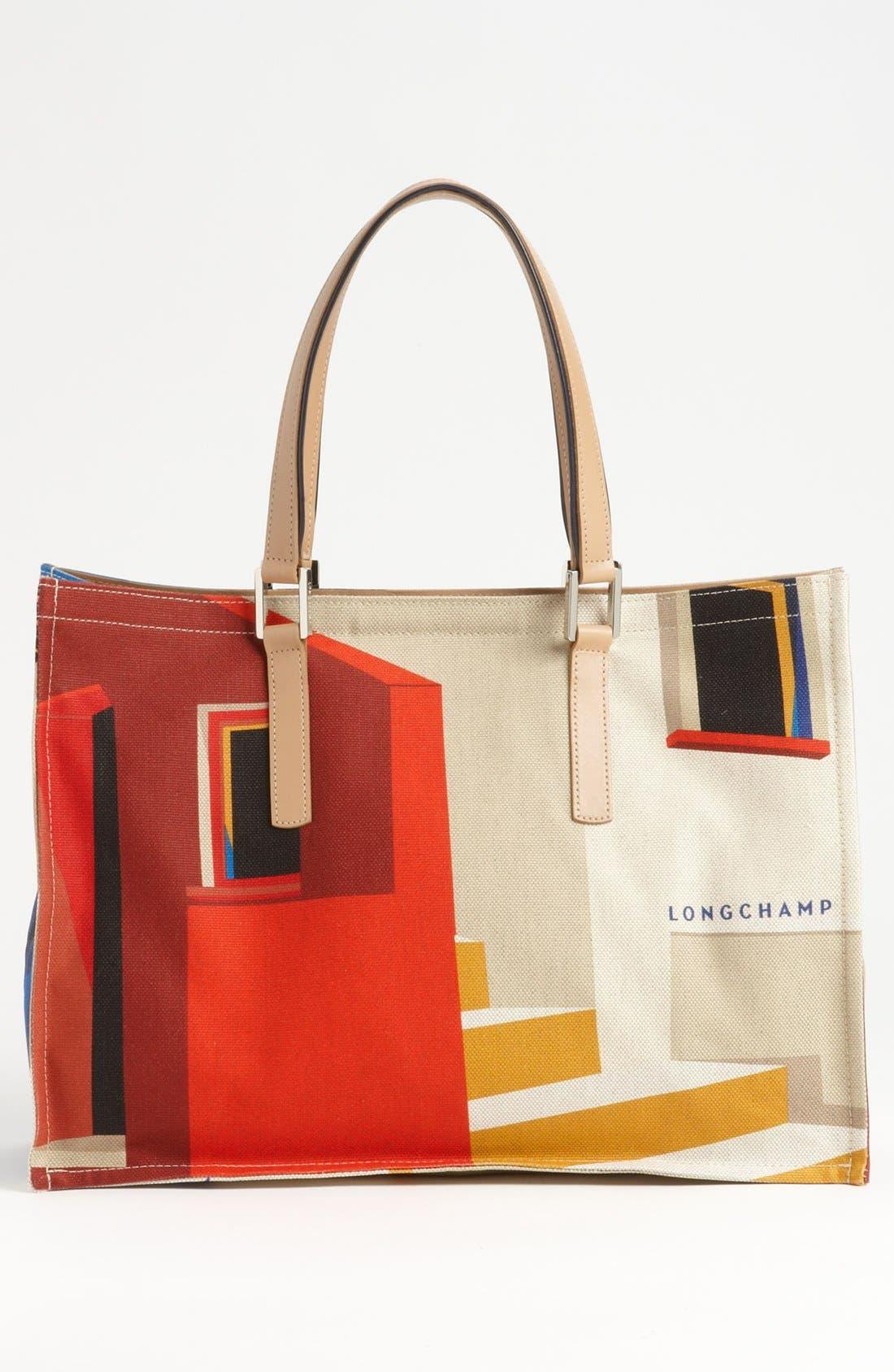 Alternate Image 4  - Longchamp 'Finca Luisa - Medium' Canvas Tote