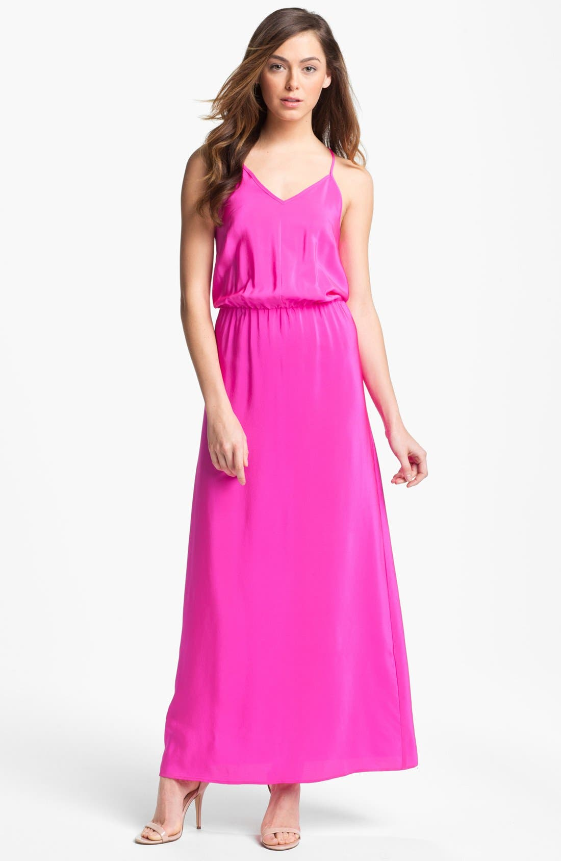 Alternate Image 1 Selected - Amanda Uprichard Silk Maxi Dress