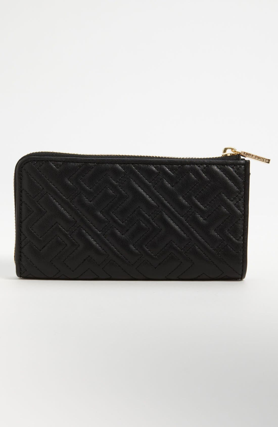 Alternate Image 3  - Tory Burch Quilted Logo Leather Wallet